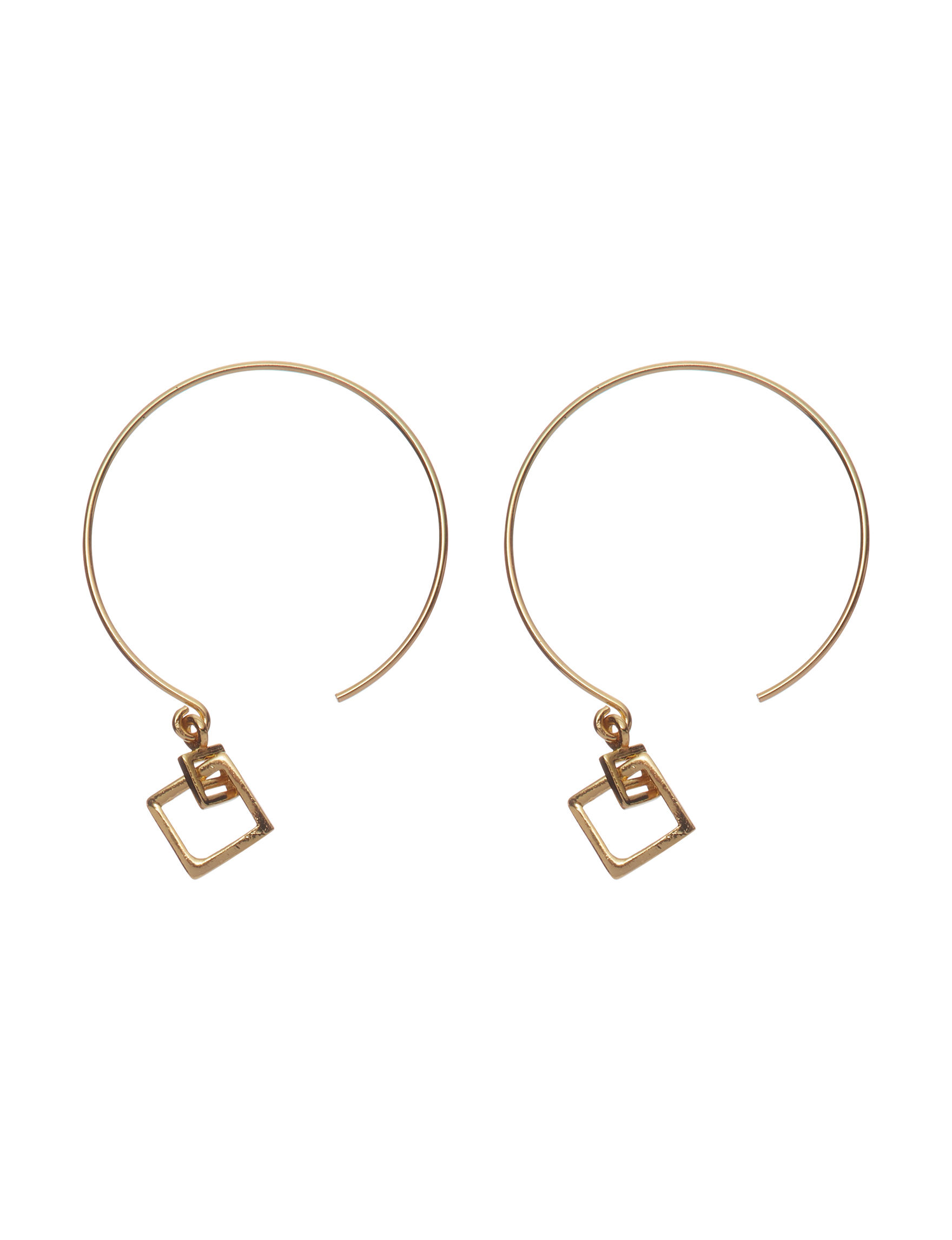 Marsala Gold Hoops Earrings Fine Jewelry