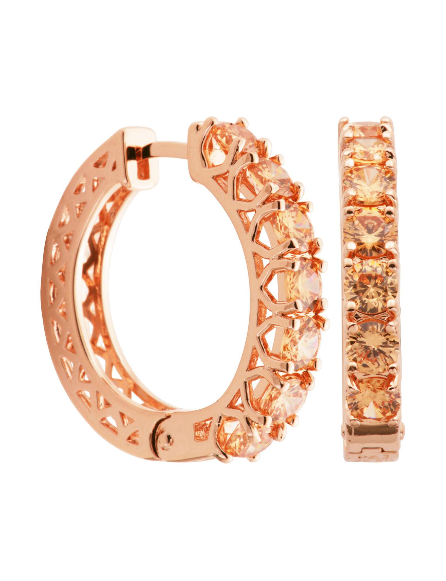 PAJ INC. Rose Gold Hoops Earrings Fine Jewelry