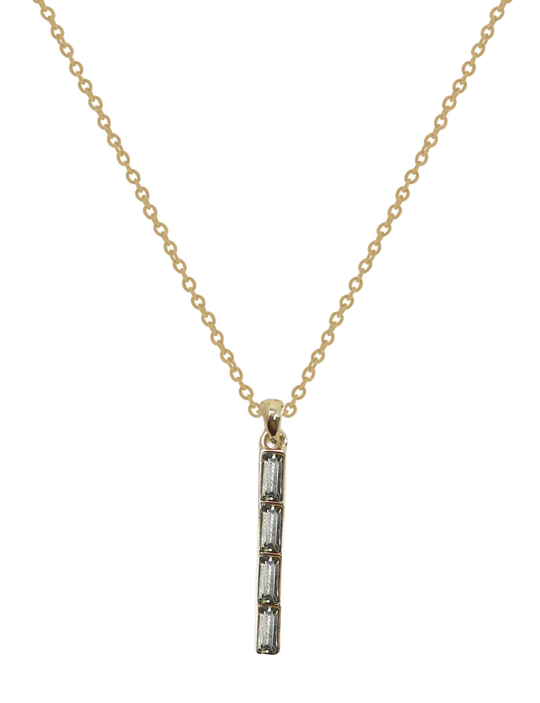 L & J Clear Necklaces & Pendants Fine Jewelry
