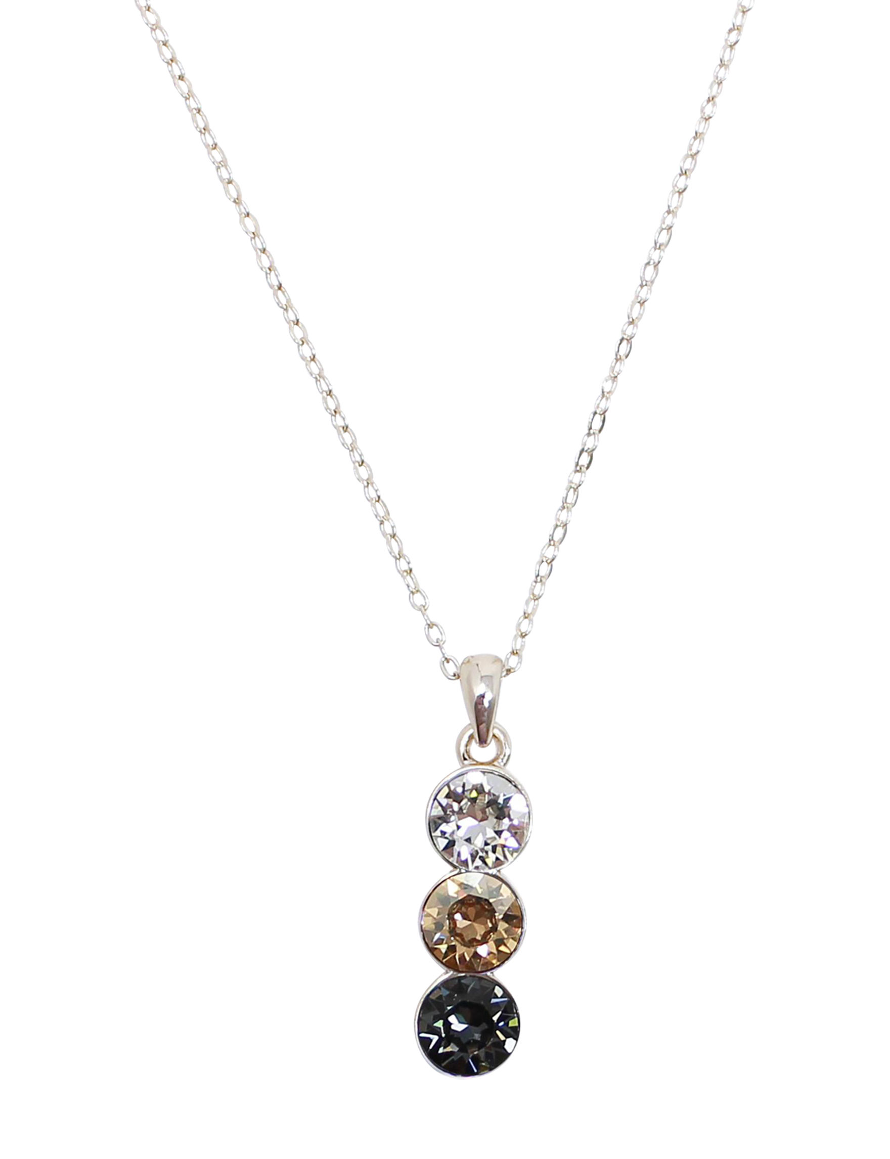 L & J Black Crystal Necklaces & Pendants Fine Jewelry