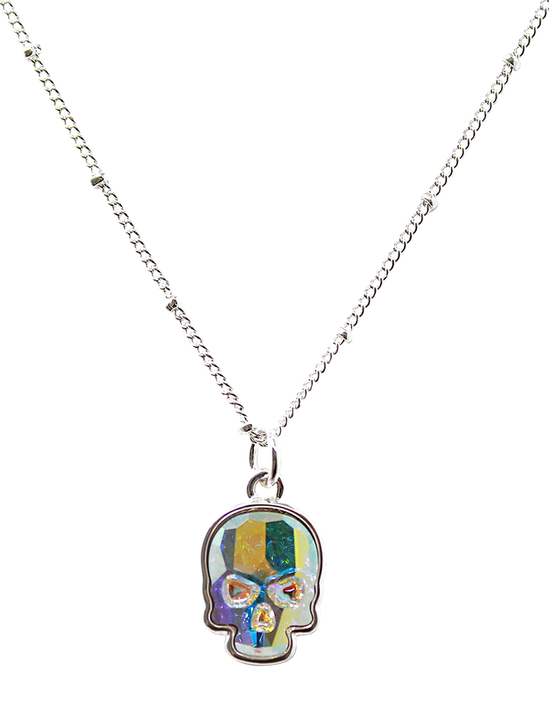 L & J Crystal Skull Necklaces & Pendants Fine Jewelry