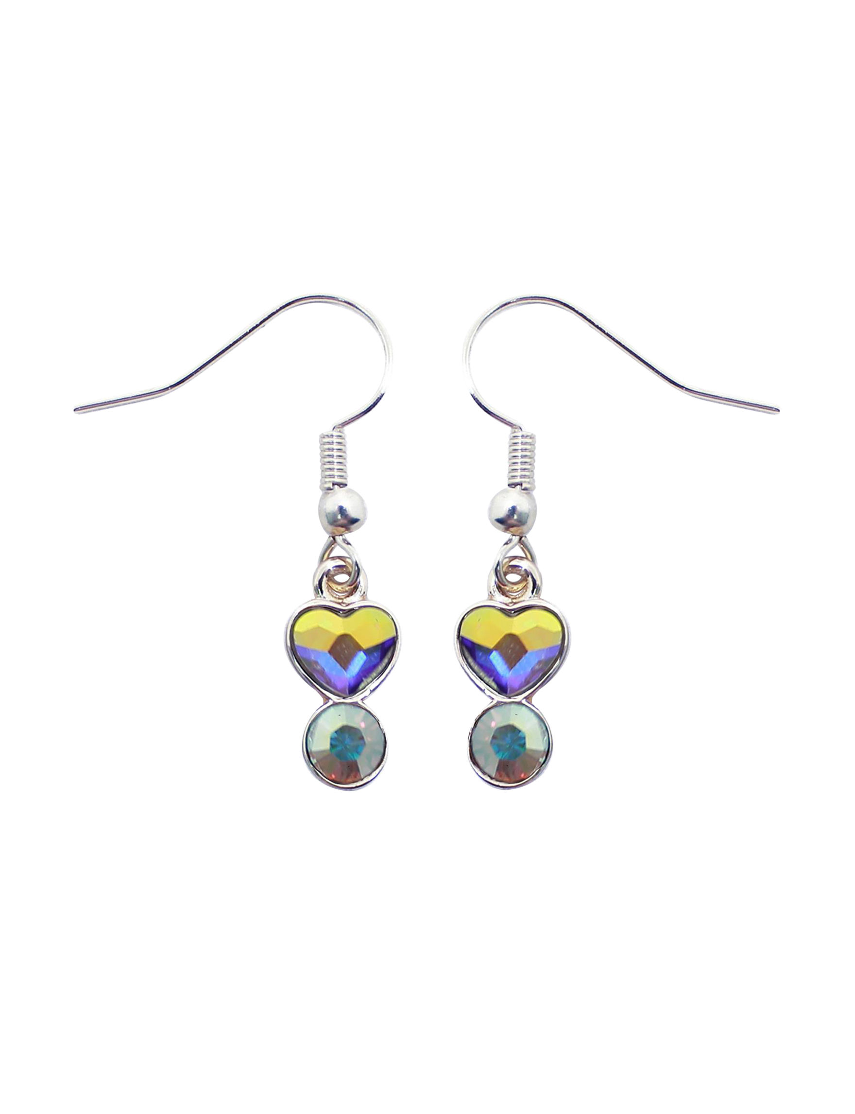 L & J Crystal Drops Earrings Fine Jewelry