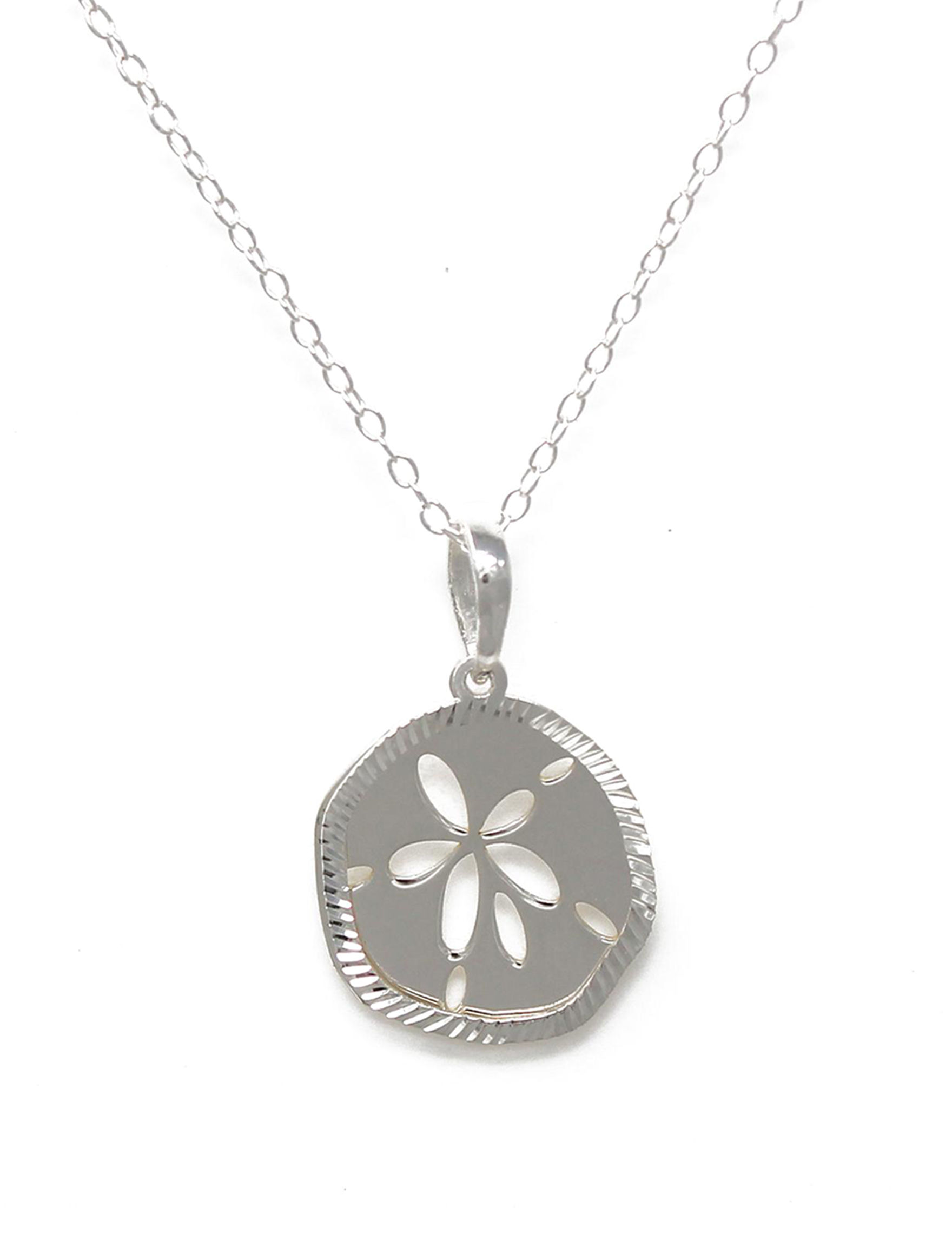Sterling silver sand dollar necklace stage stores sterling silver sand dollar necklace aloadofball Images