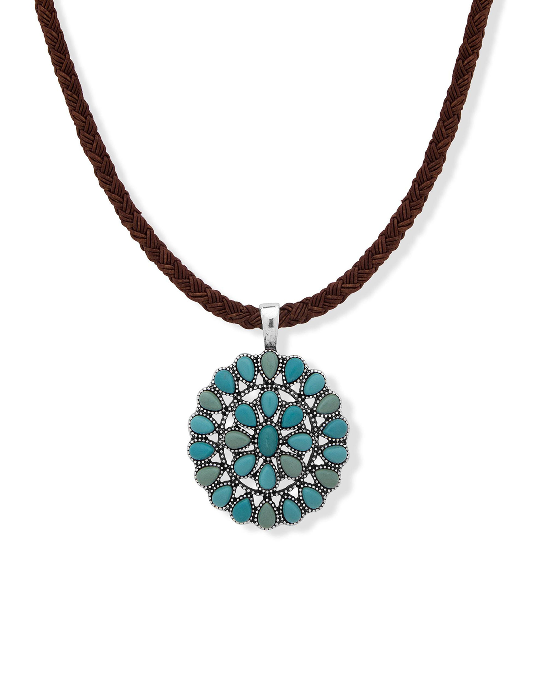Chaps Turquoise Necklaces & Pendants Fashion Jewelry
