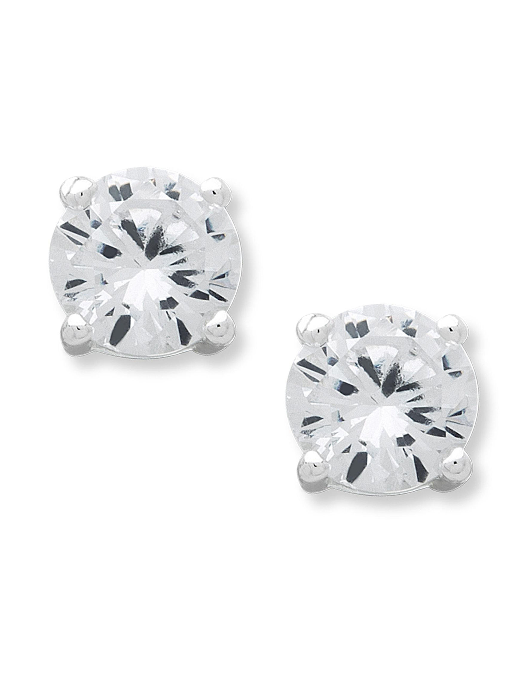 Chaps Silver Studs Earrings Fashion Jewelry