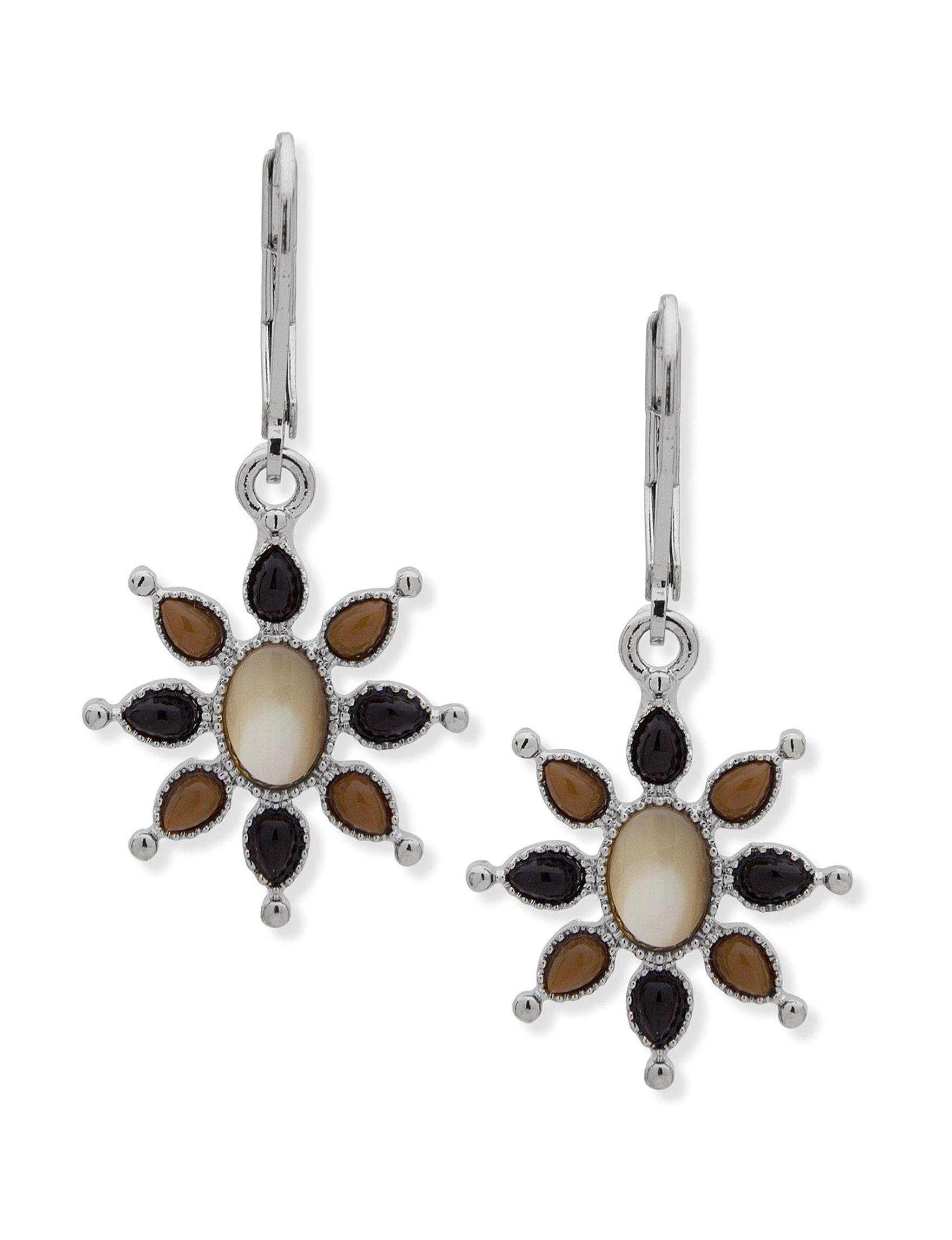 Chaps Brown / Multi Drops Earrings Fashion Jewelry
