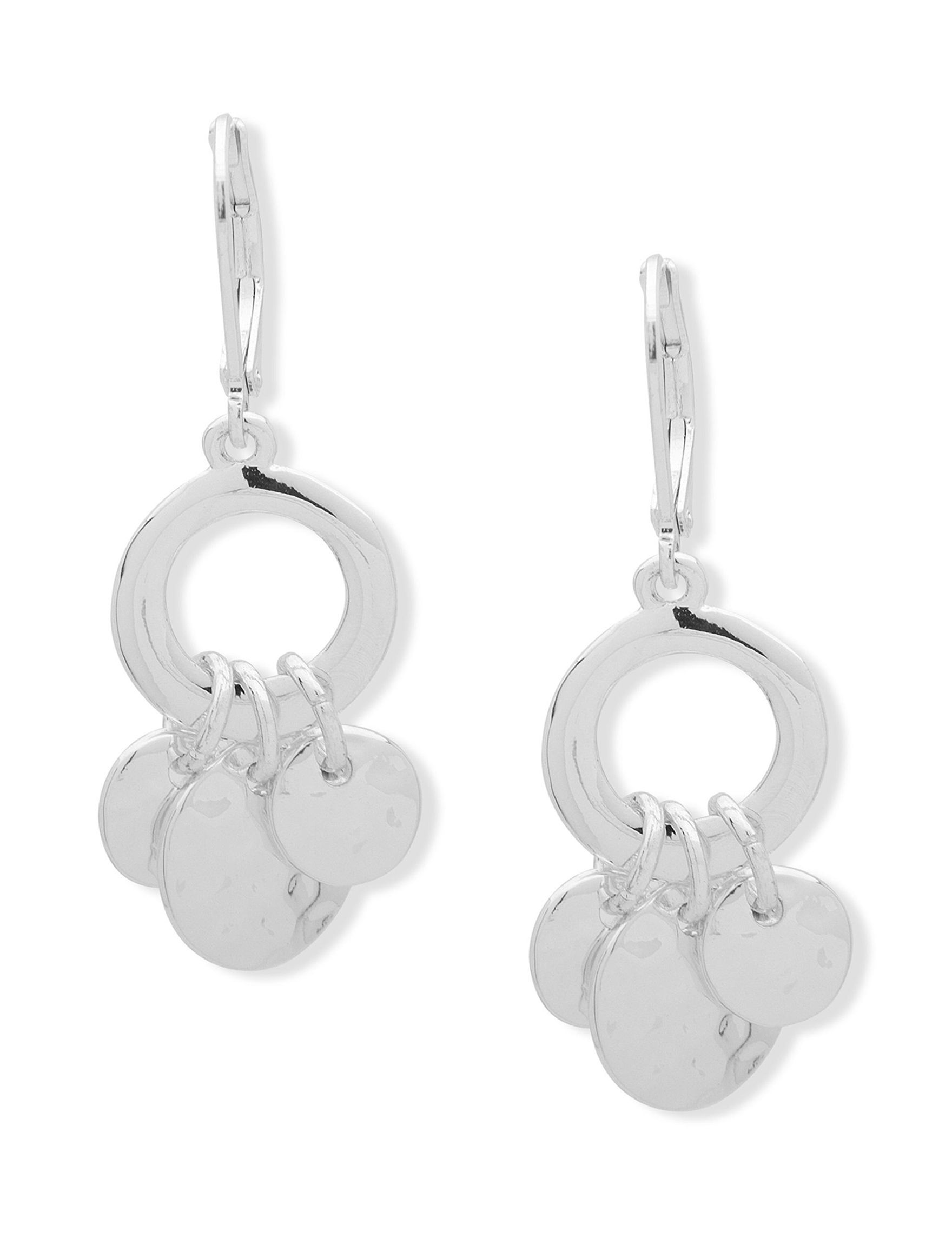 Chaps Silver Drops Earrings Fashion Jewelry