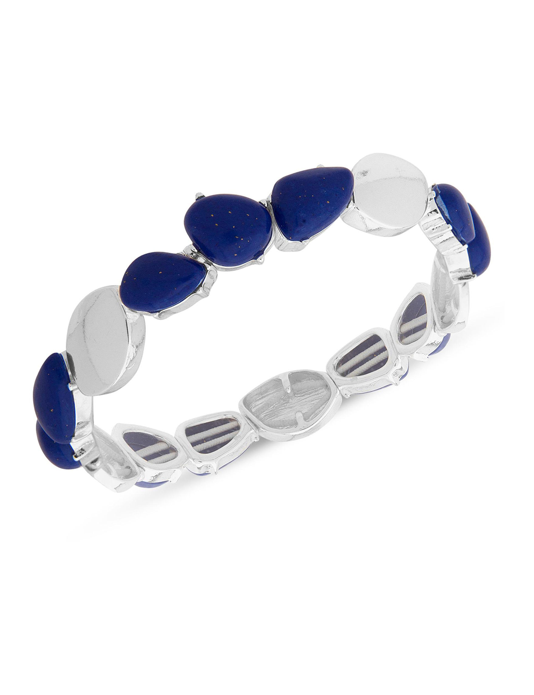 Chaps Blue / Silver Bracelets Fashion Jewelry
