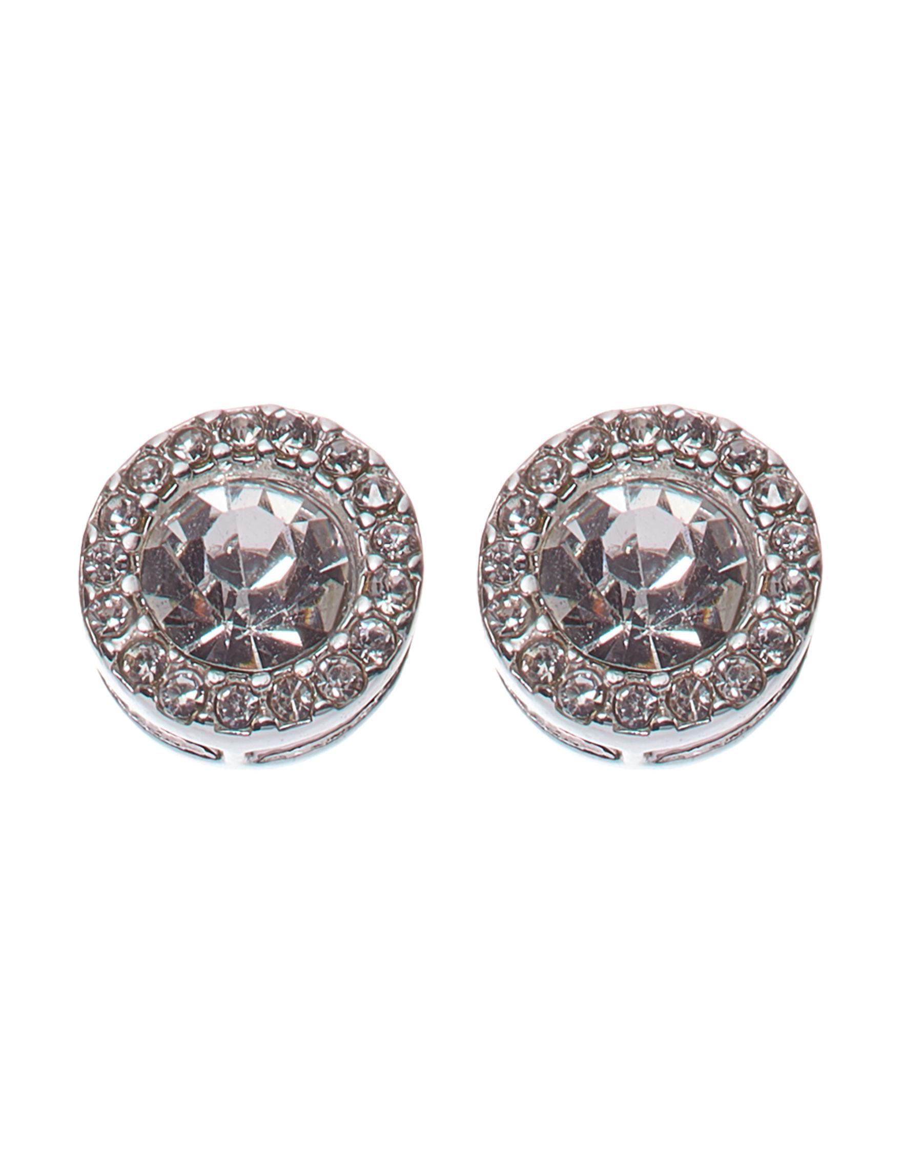 Gloria Vanderbilt Silver Studs Earrings Fashion Jewelry