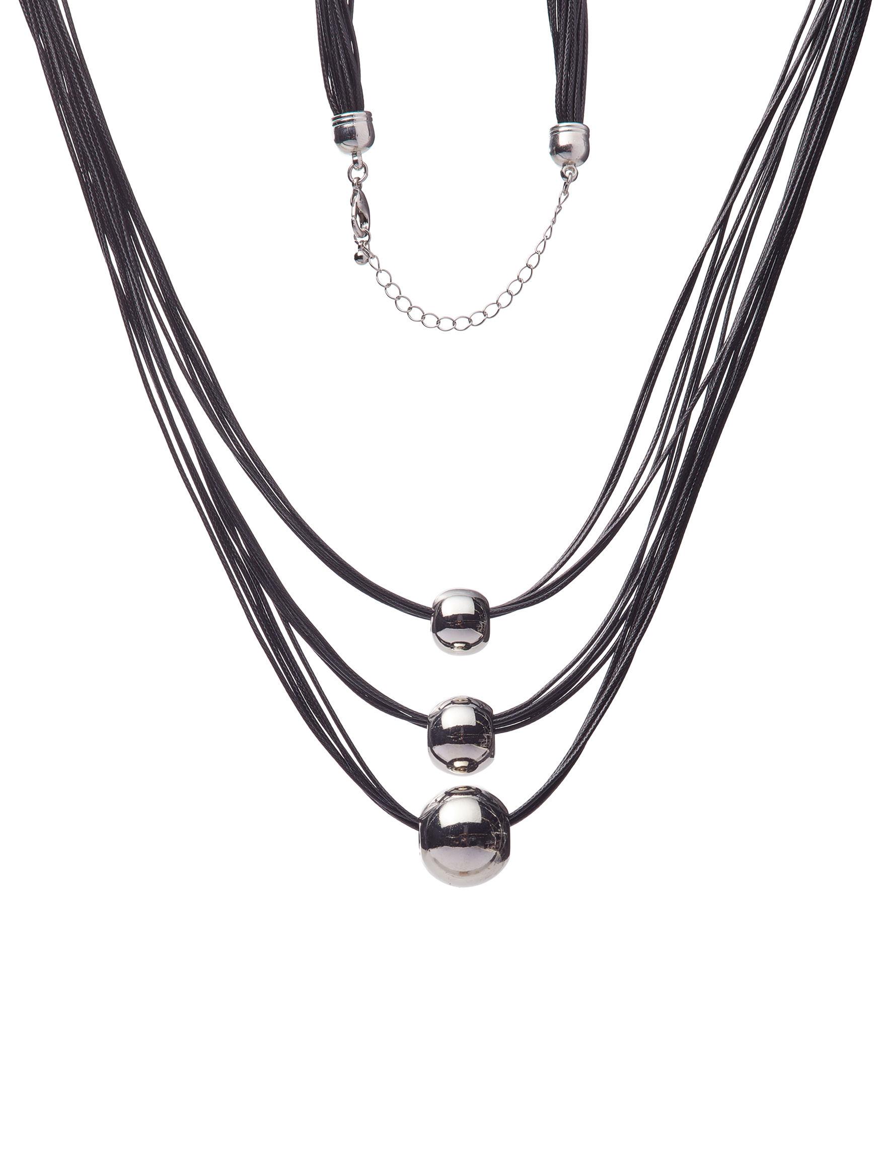 Hannah Black / Silver Necklaces & Pendants Fashion Jewelry