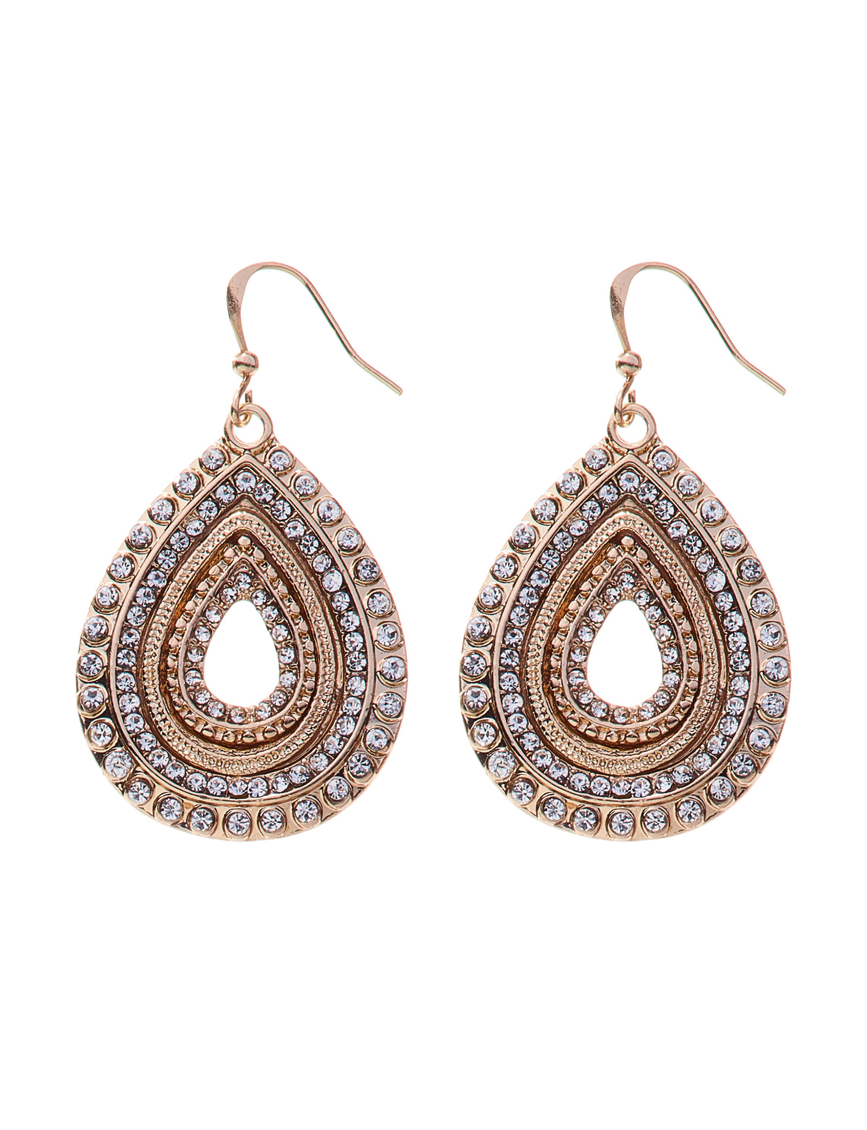 Hannah Gold / Crystal Drops Earrings Fashion Jewelry