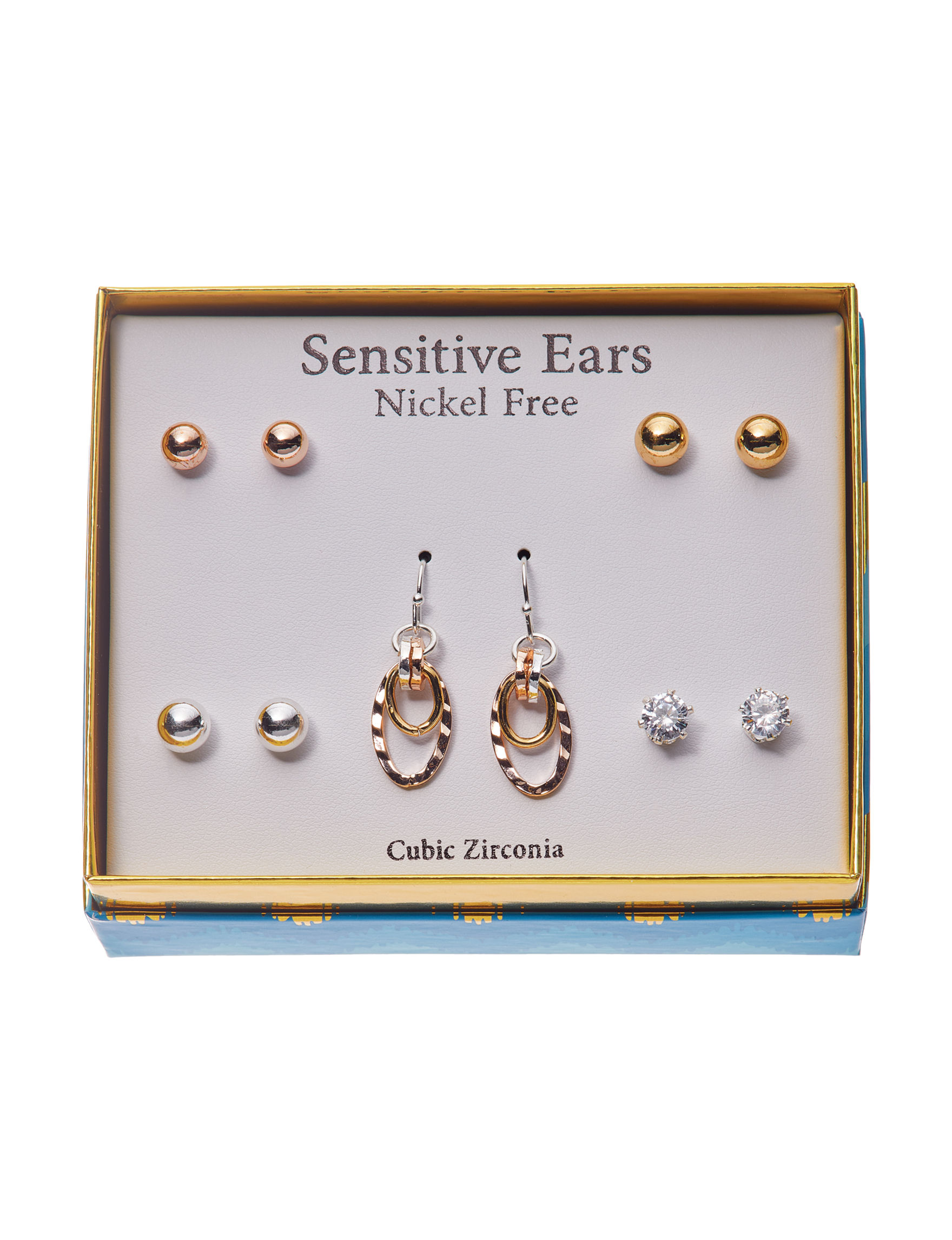 Fashion Accents Gold / Multi Earrings Fashion Jewelry