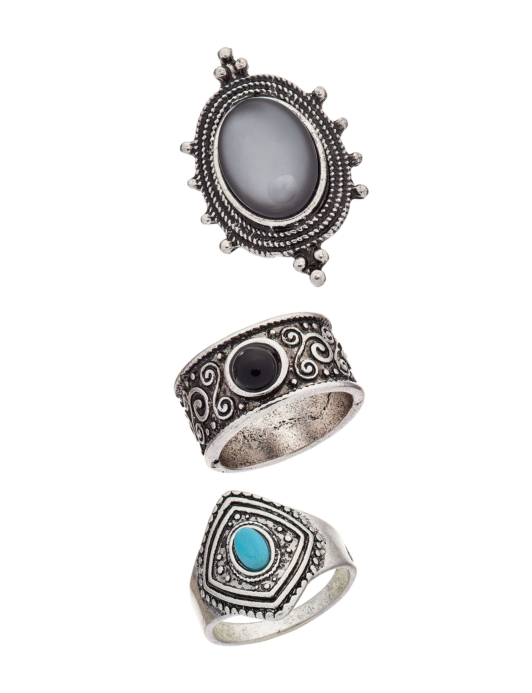 Hannah Black Rings Fashion Jewelry