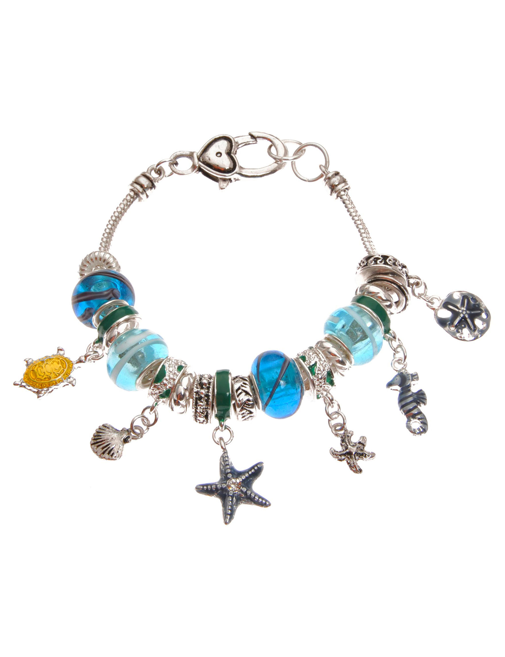 L & J Blue / Silver Bracelets Fashion Jewelry