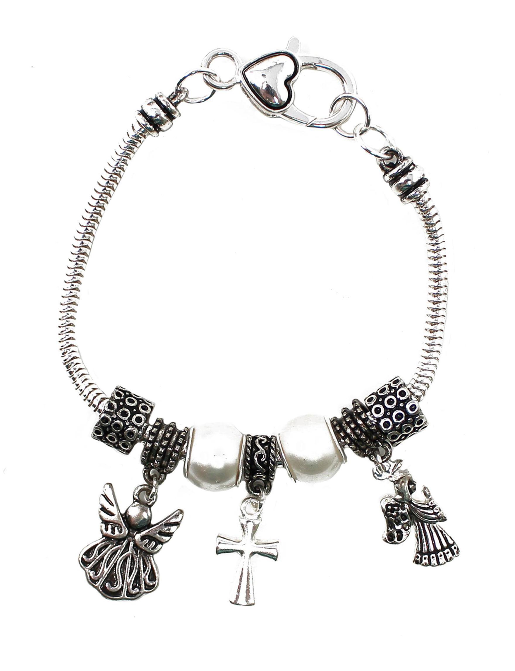 L & J Silver / Black Fashion Jewelry