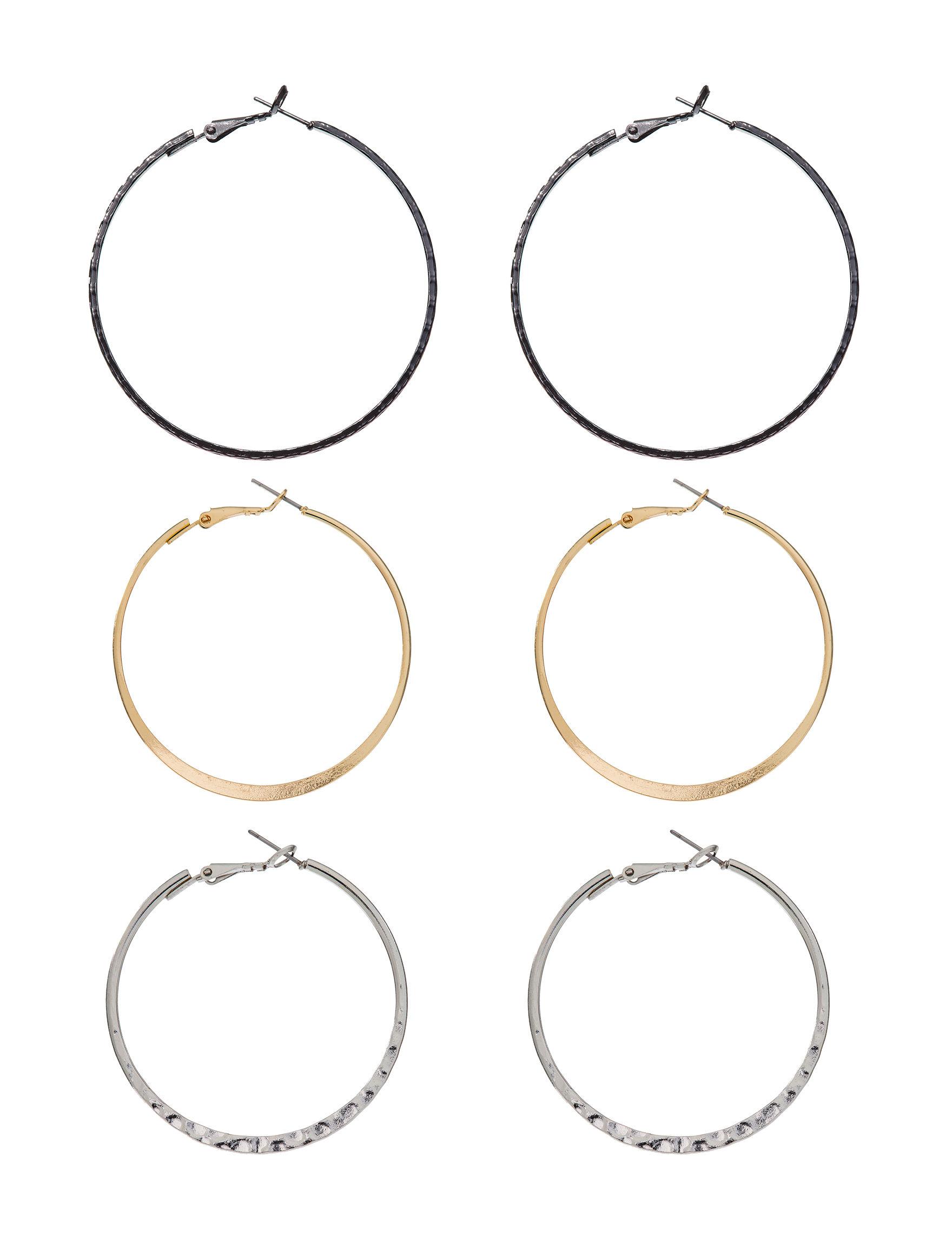 Hannah Silver Hoops Earrings Jewelry Sets Fashion Jewelry