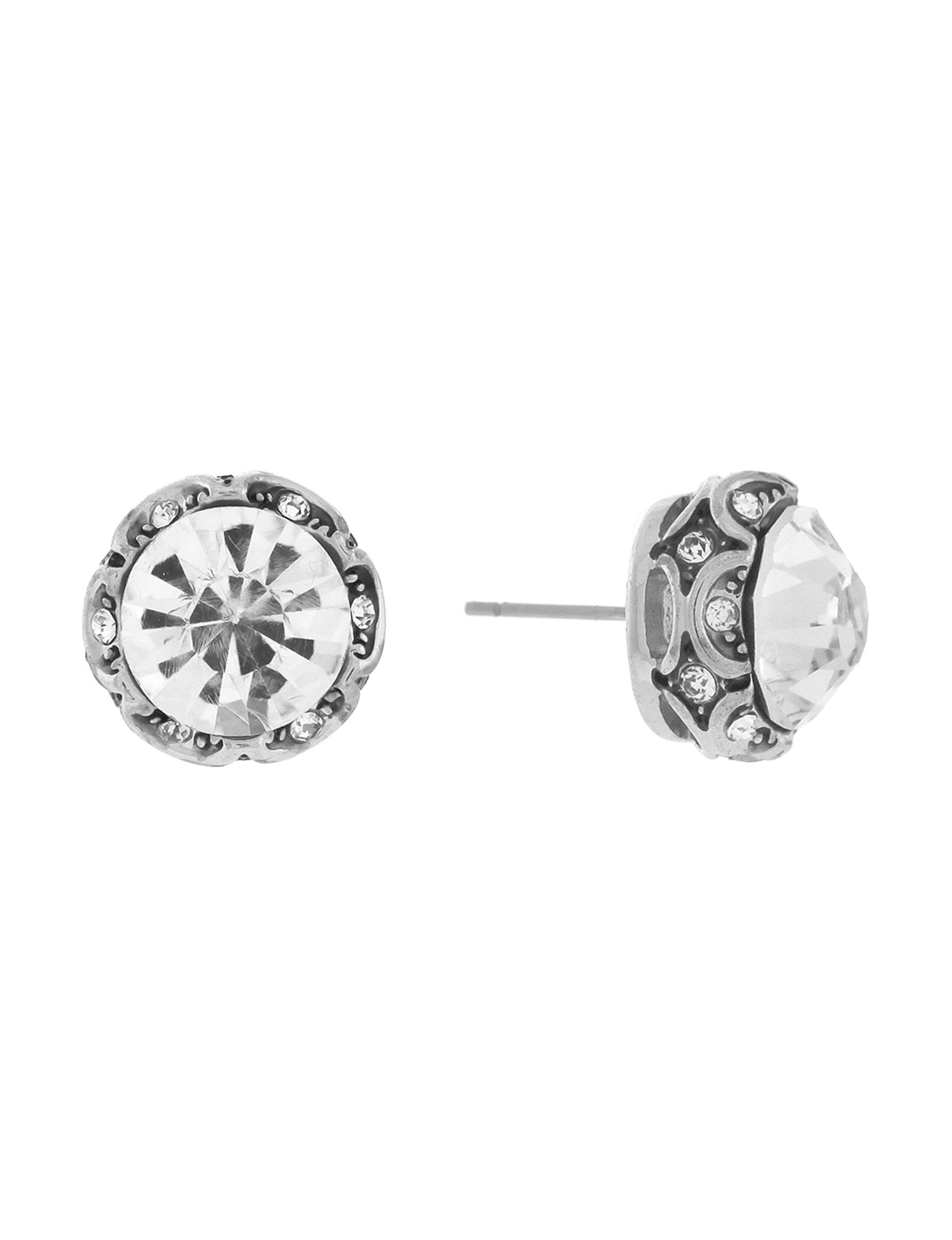 Jessica Simpson Silver Studs Earrings Fashion Jewelry