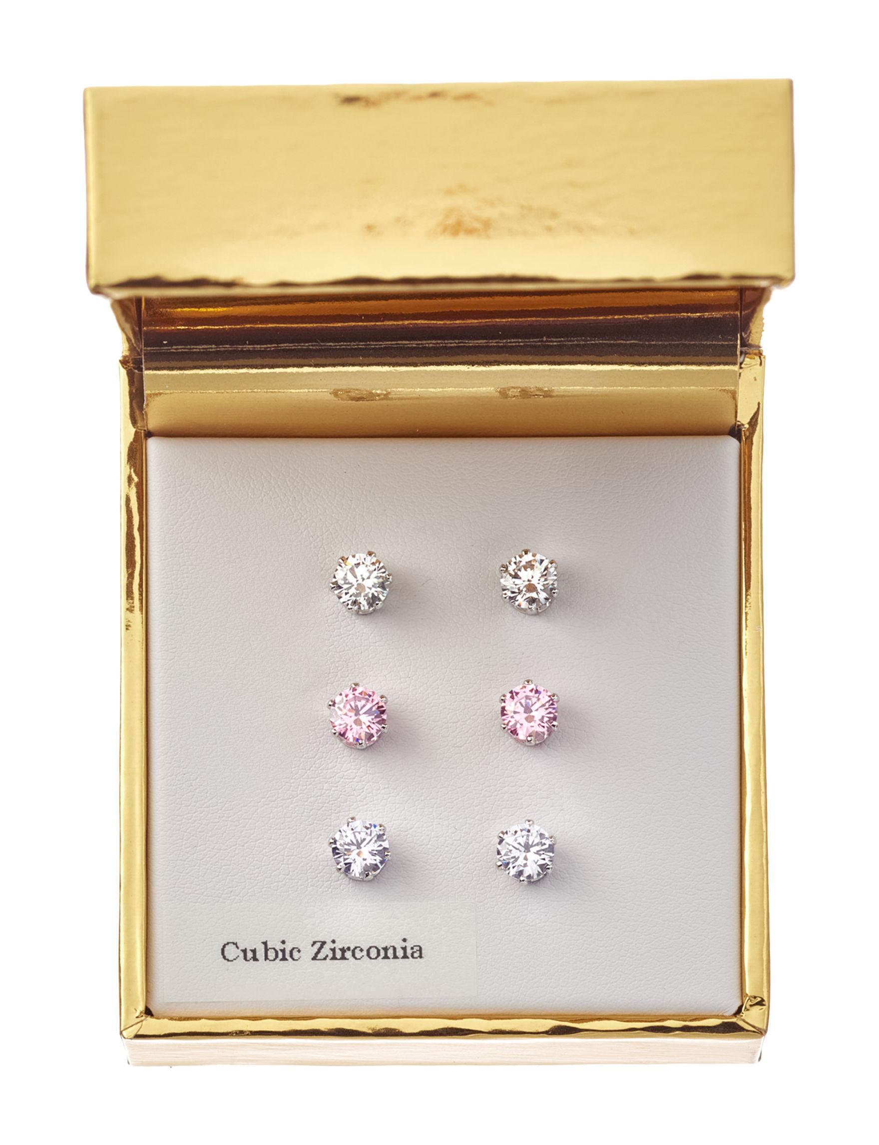 Robert Enterprises Multi Color Studs Earrings Fashion Jewelry