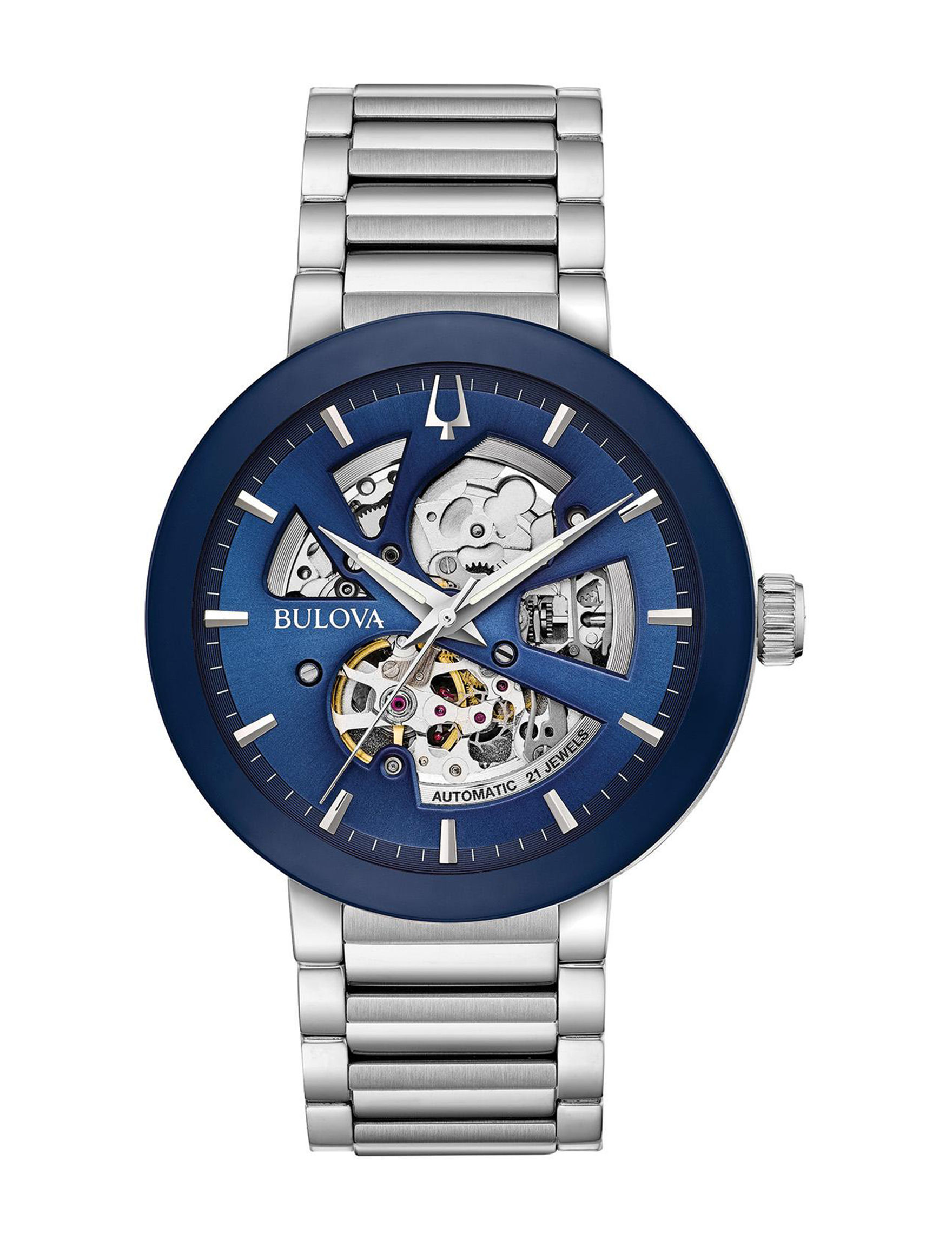 Bulova Blue / Silver Fashion Watches