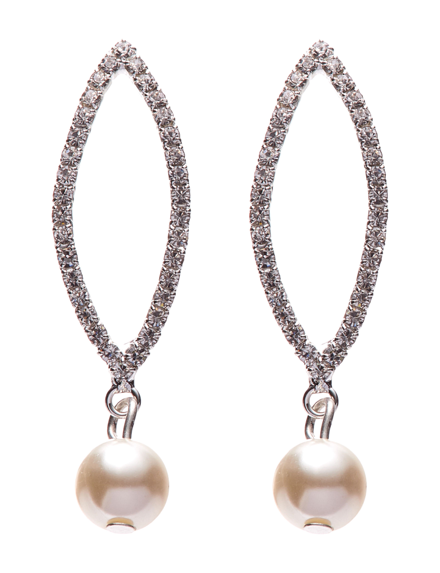 Via Roma Pearl Drops Earrings Fashion Jewelry