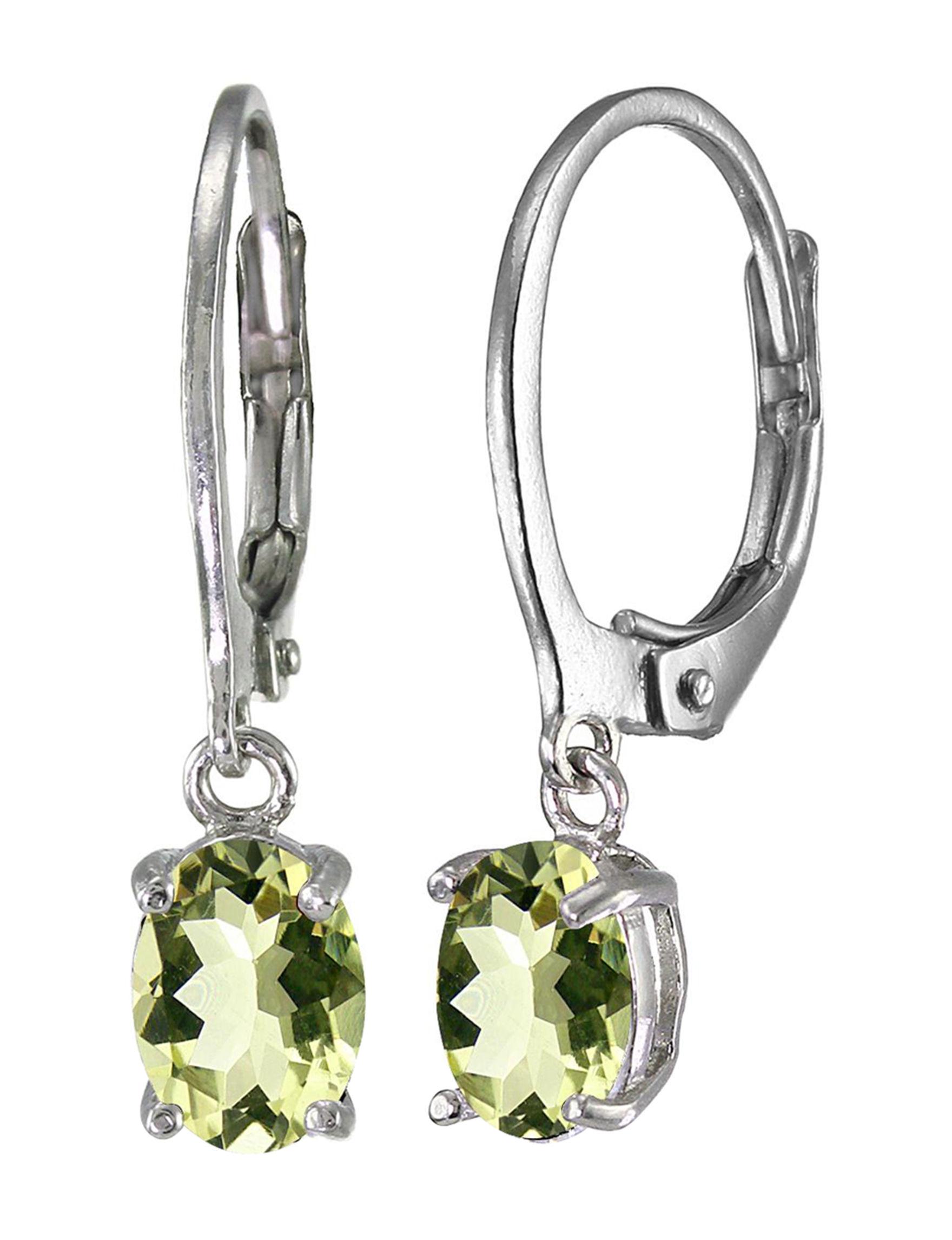 FMC Green Quartz Drops Earrings Fine Jewelry