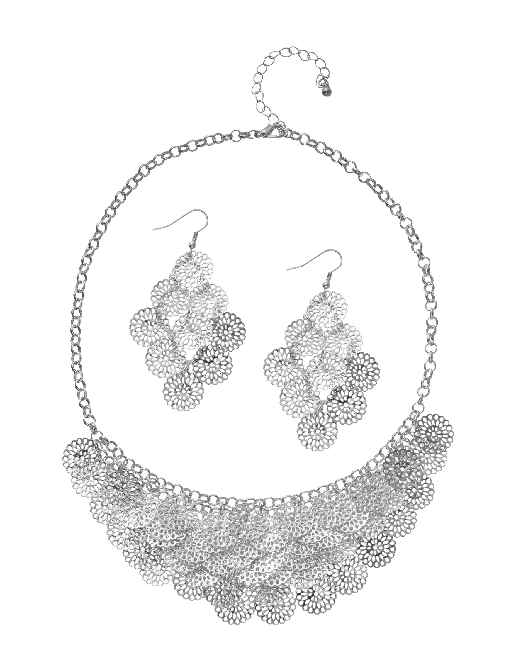 Hannah Silver Drops Earrings Jewelry Sets Necklaces & Pendants Fashion Jewelry