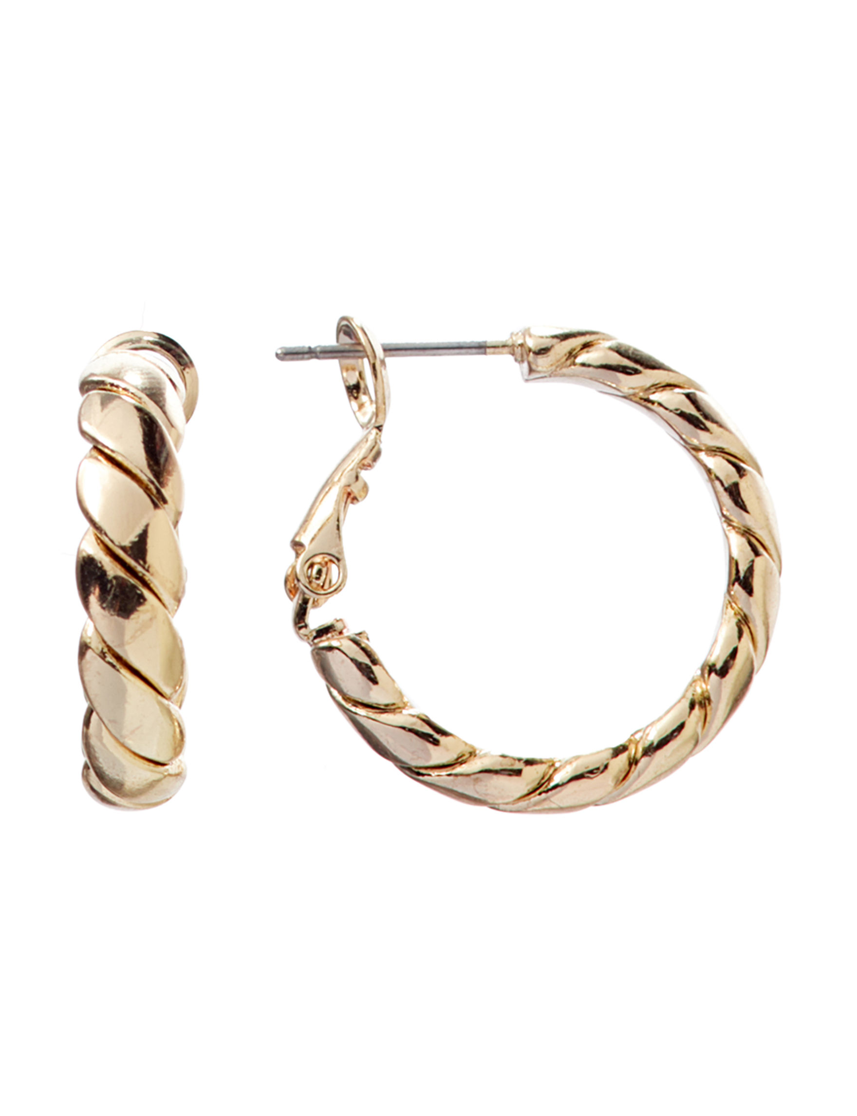 Hannah Gold Hoops Fashion Jewelry