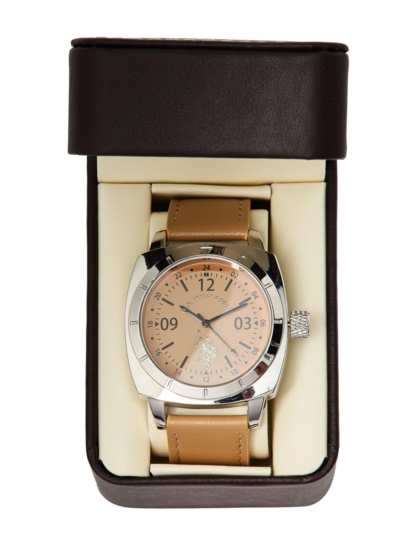 U.S. Polo Assn. Beige Fashion Watches