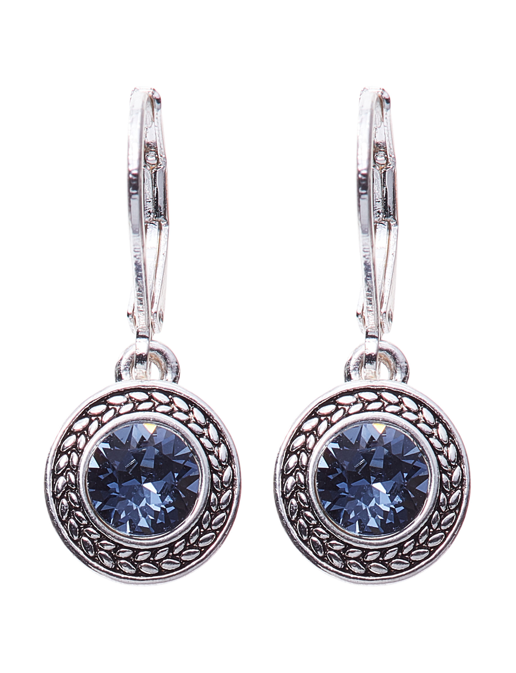 Napier Blue Stone Drops Earrings Fashion Jewelry
