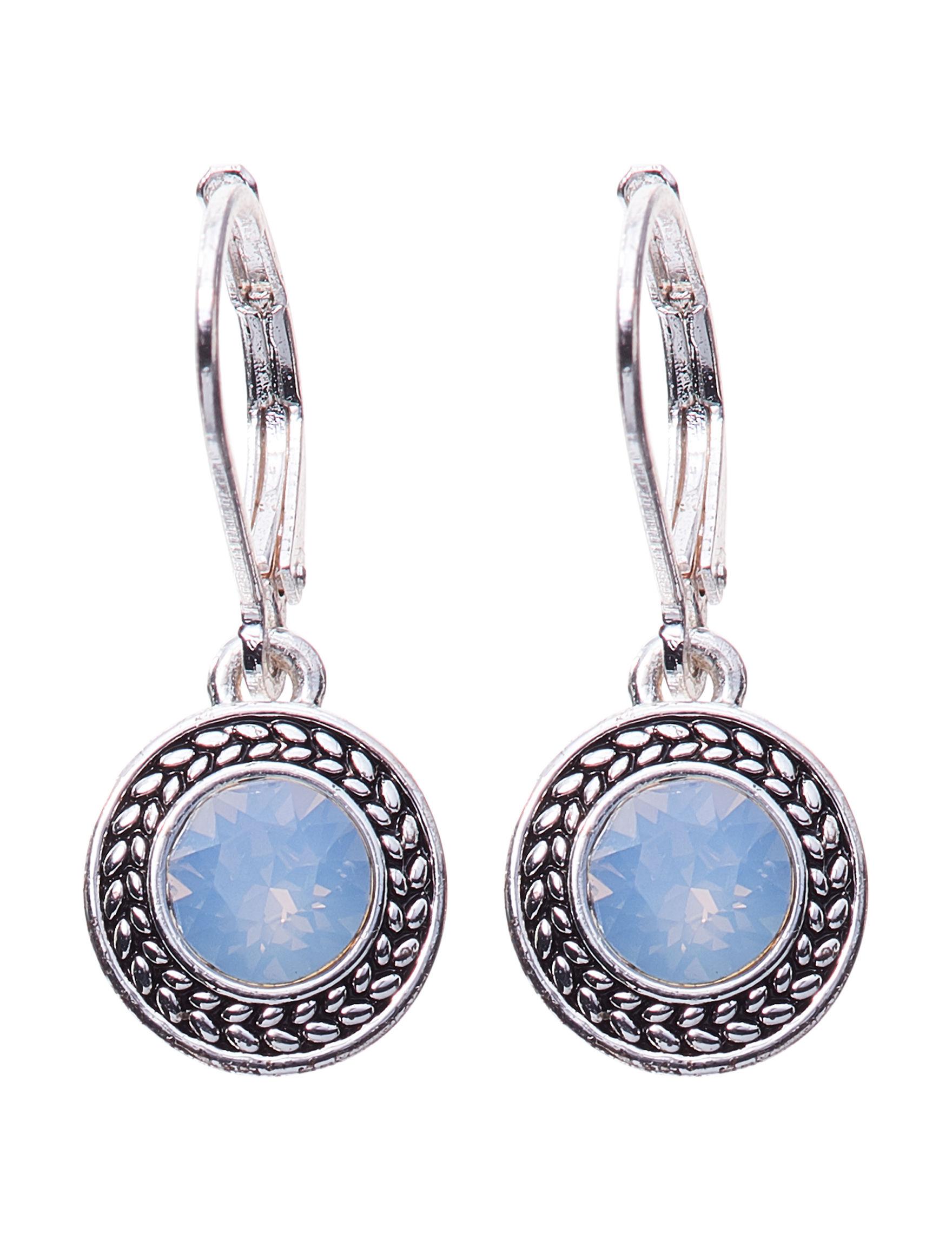 Napier Blue Stone Drops Earrings Fashion Jewelry