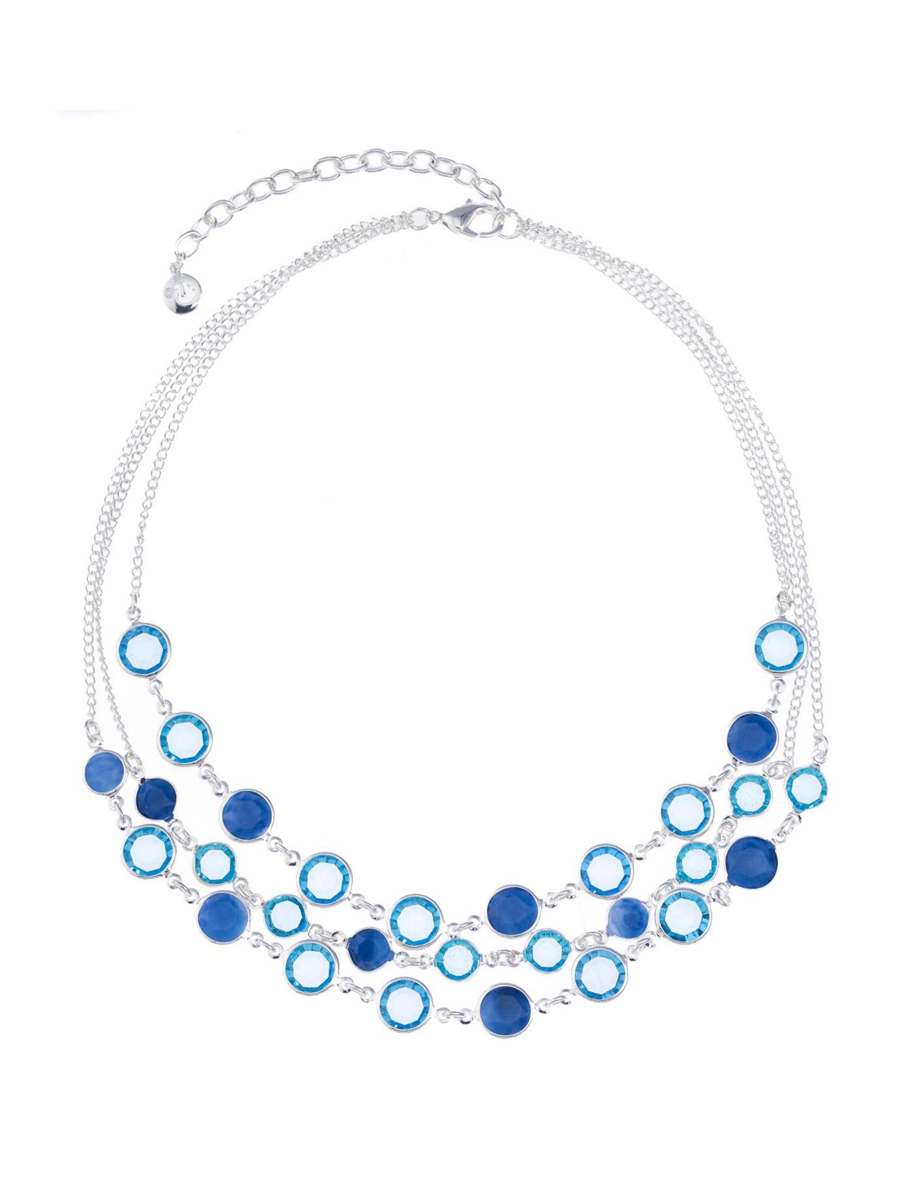 Gloria Vanderbilt Blue / Silver Necklaces & Pendants Fashion Jewelry