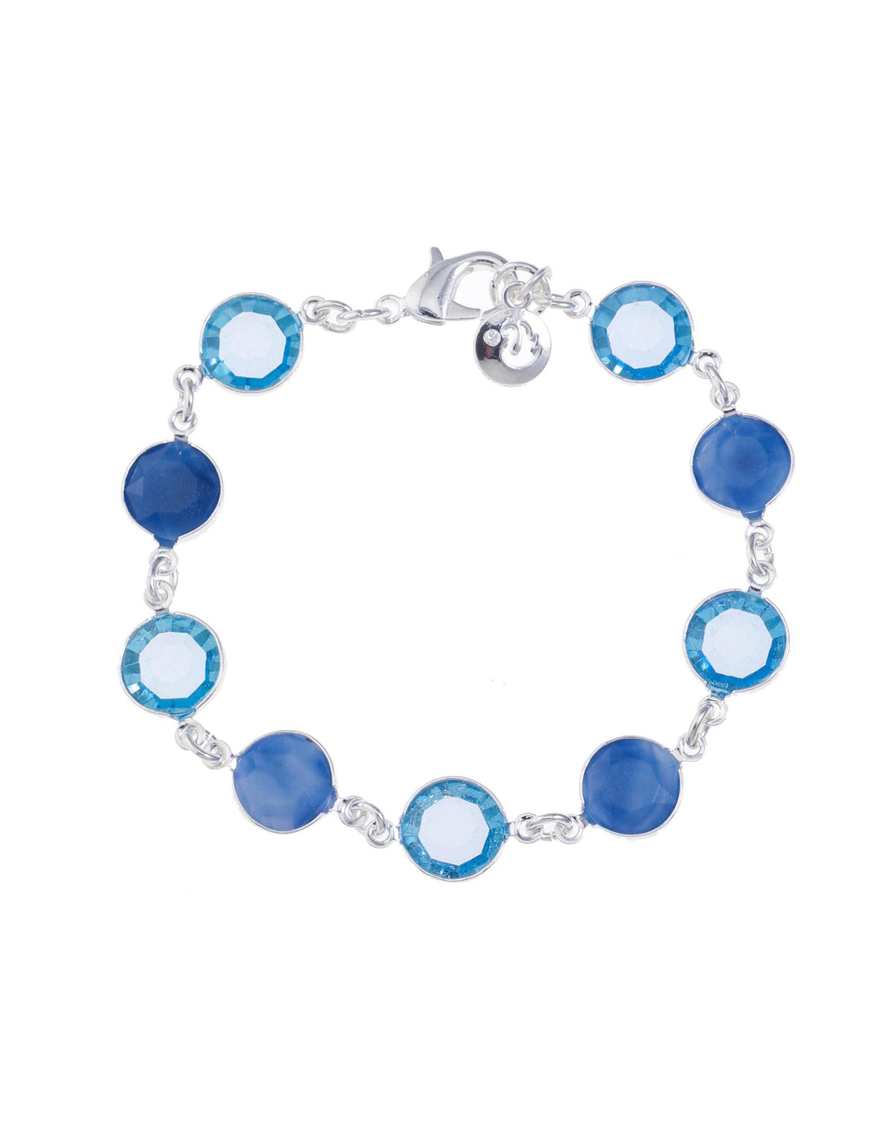 Gloria Vanderbilt Blue / Silver Bracelets Fashion Jewelry