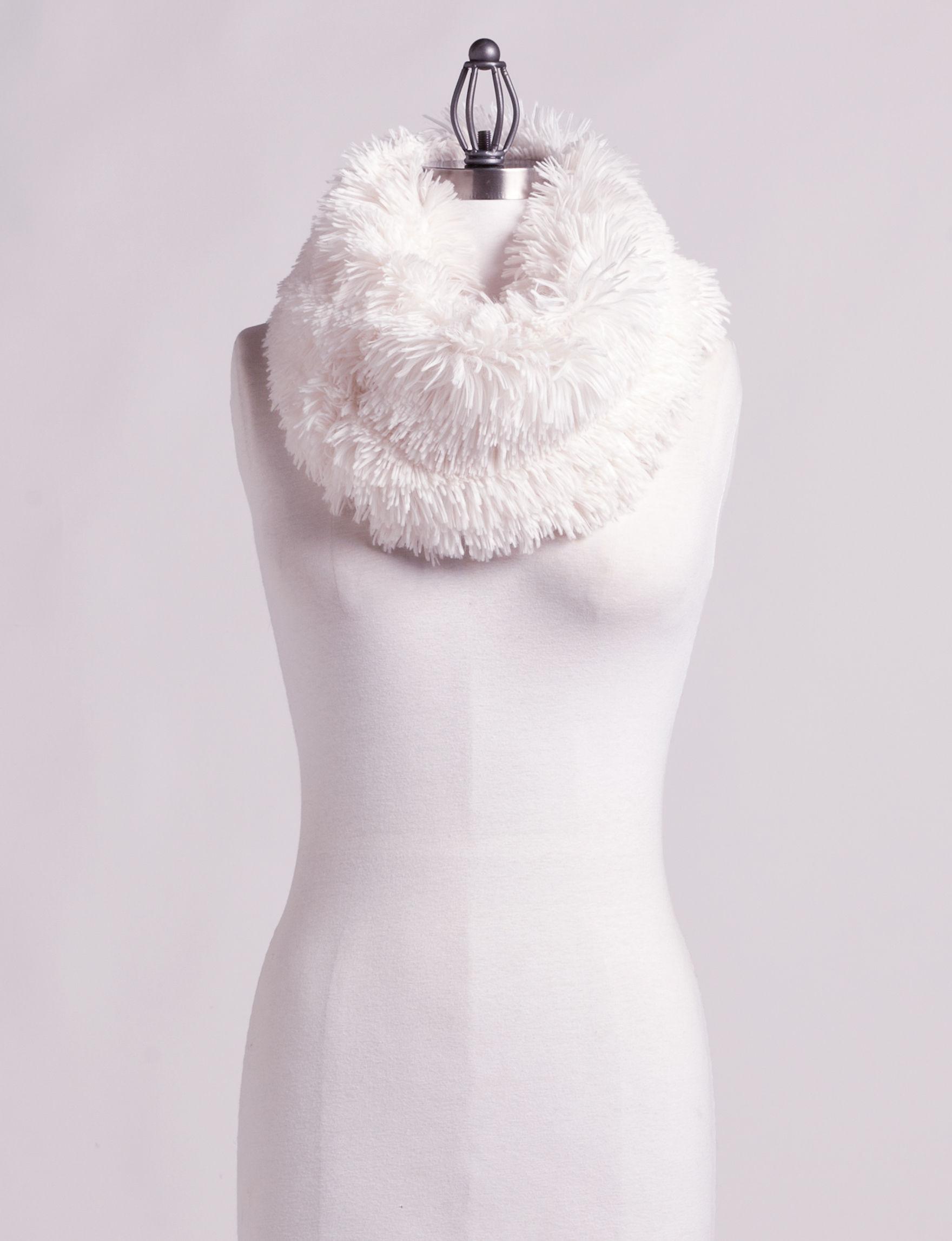 Cejon Ivory Scarves & Wraps Infinity & Loops