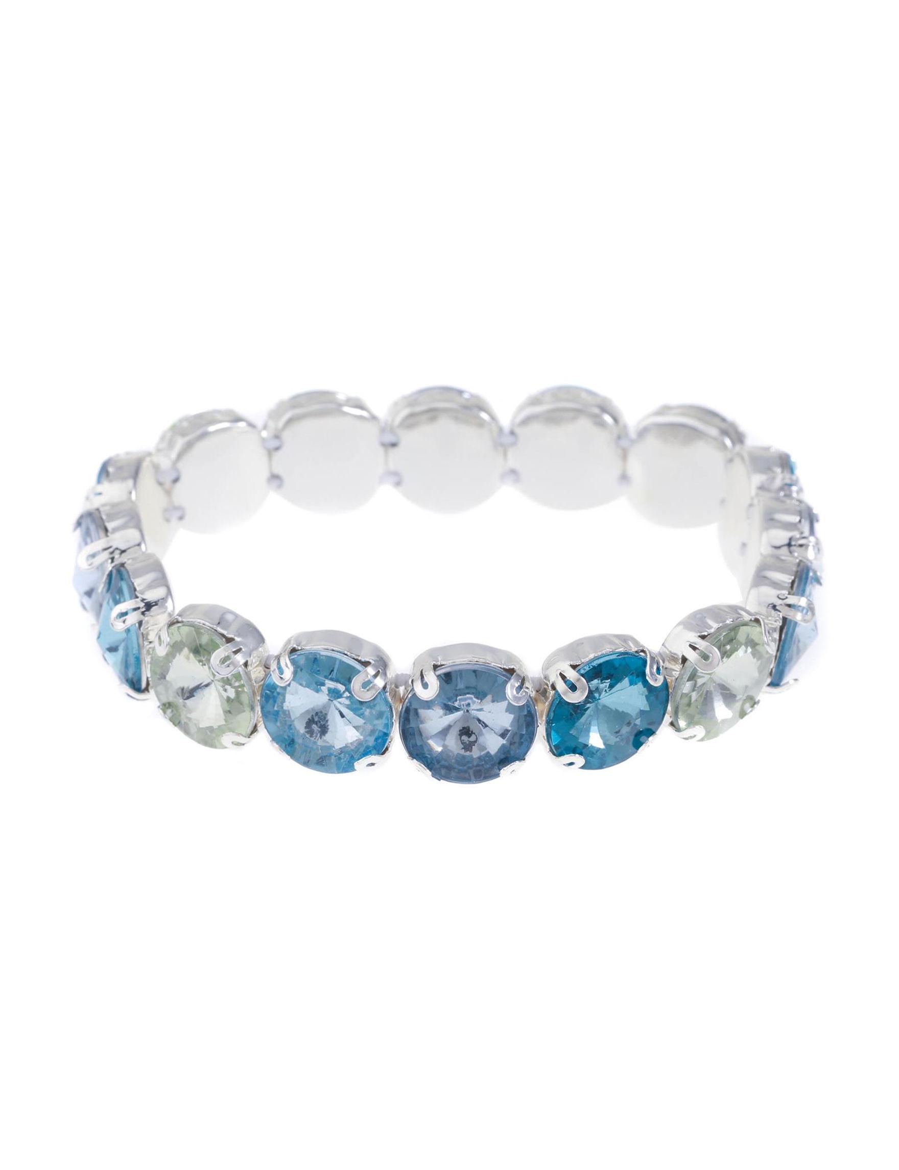 Gloria Vanderbilt Silver / Blue Stone Bracelets Fashion Jewelry