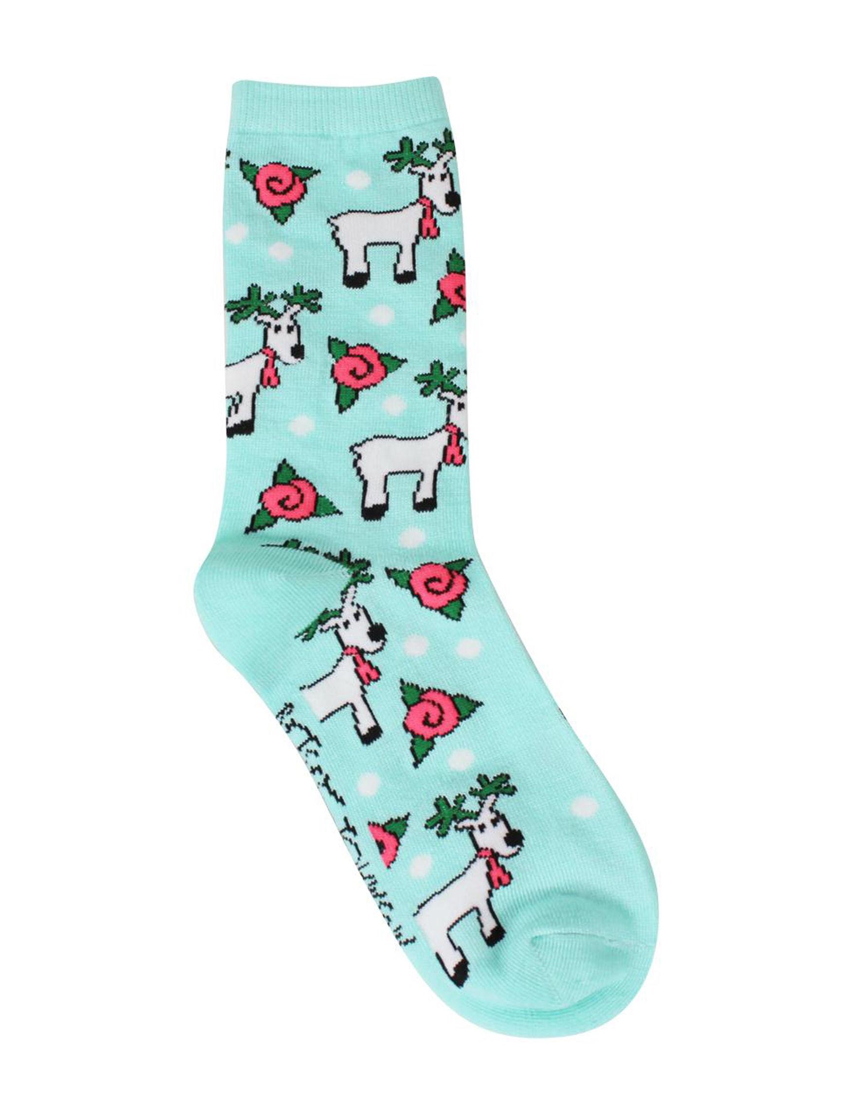 Betsey Johnson Blue Socks