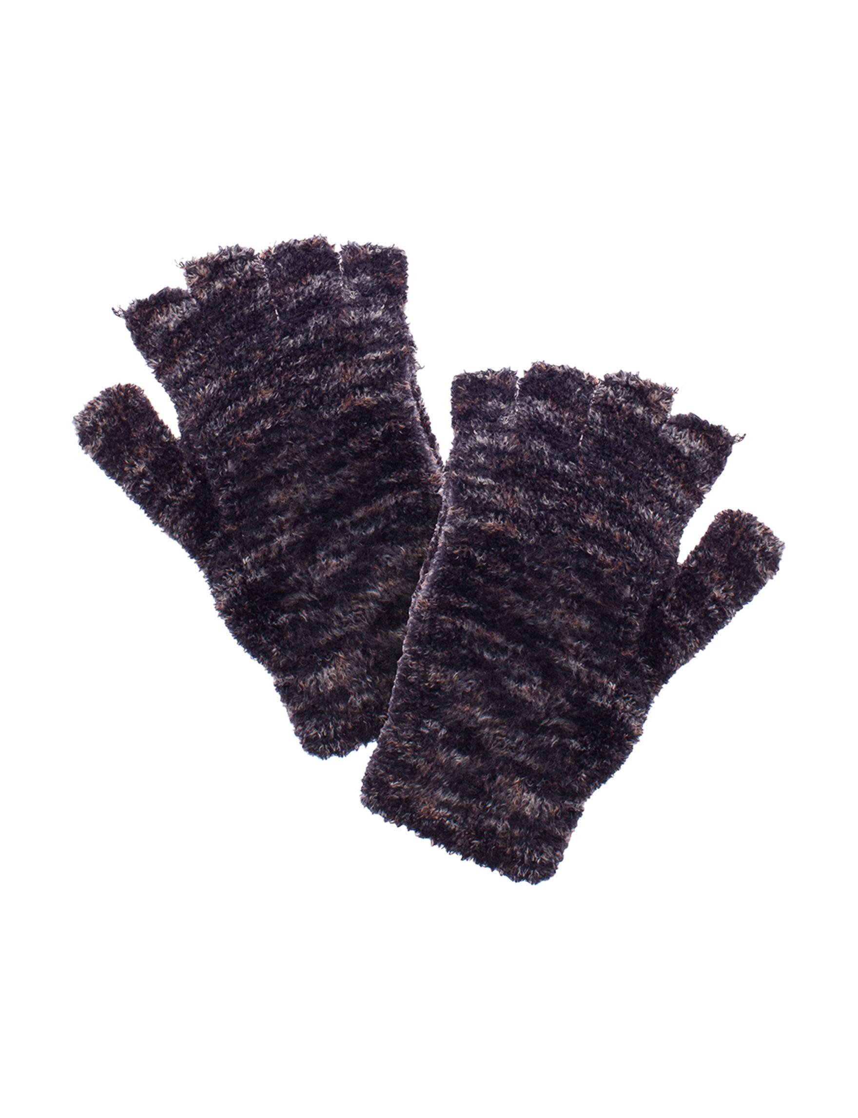 Steve Madden Black / Grey Gloves & Mittens