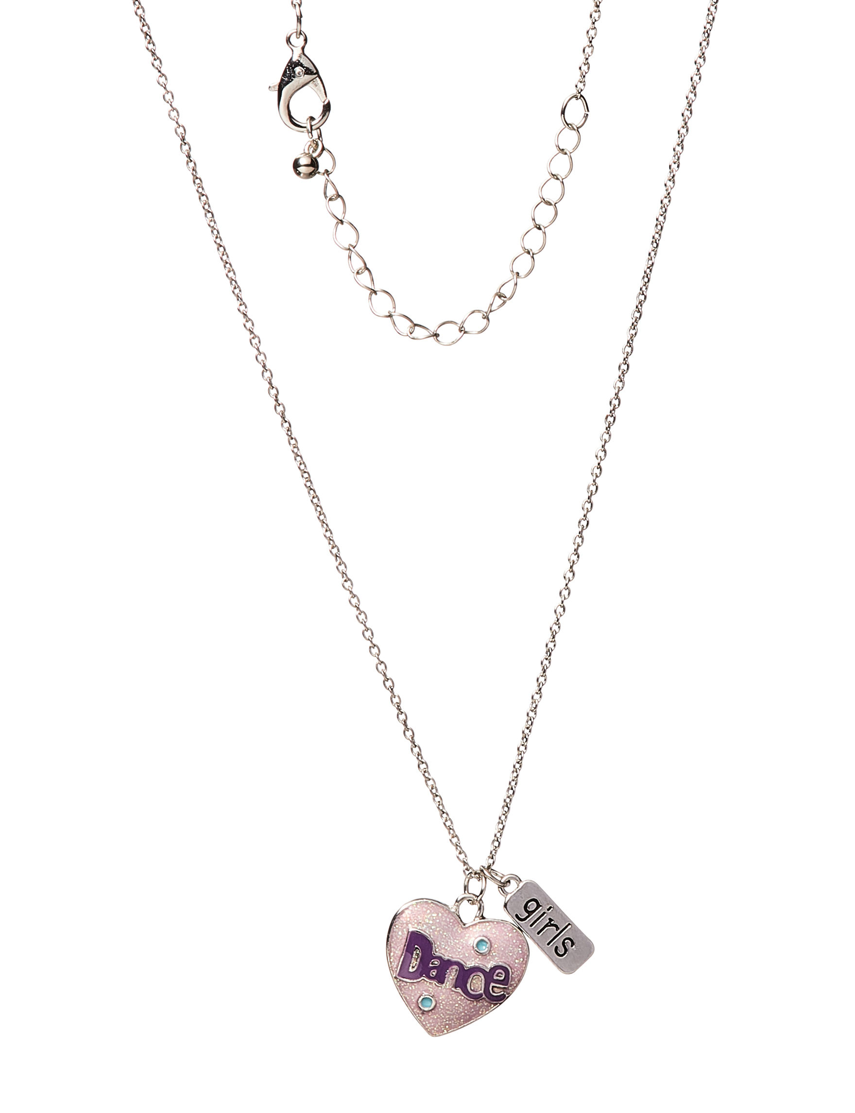 Tanya Silver / Pink Necklaces & Pendants Fashion Jewelry