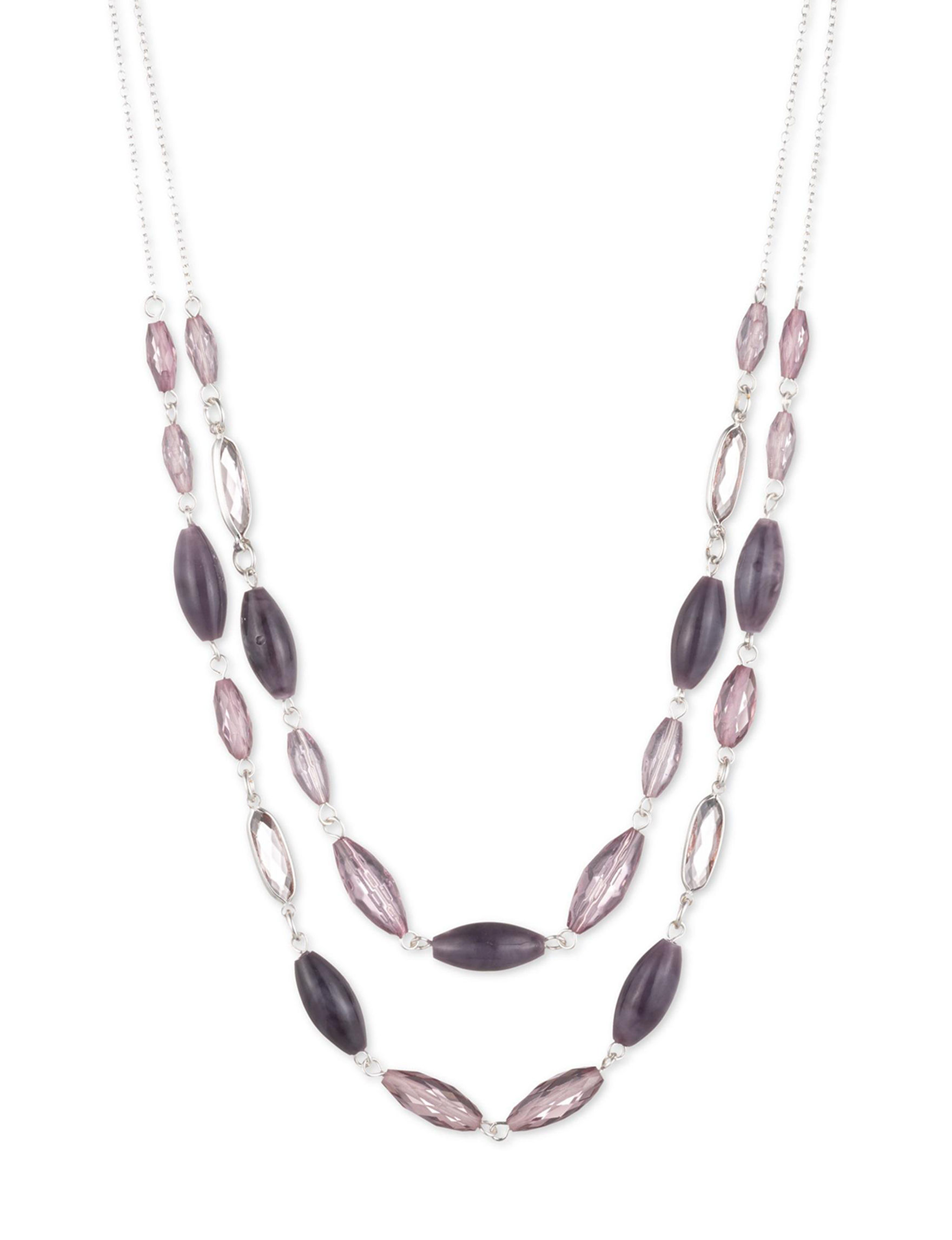 Chaps Purple Necklaces & Pendants Fashion Jewelry