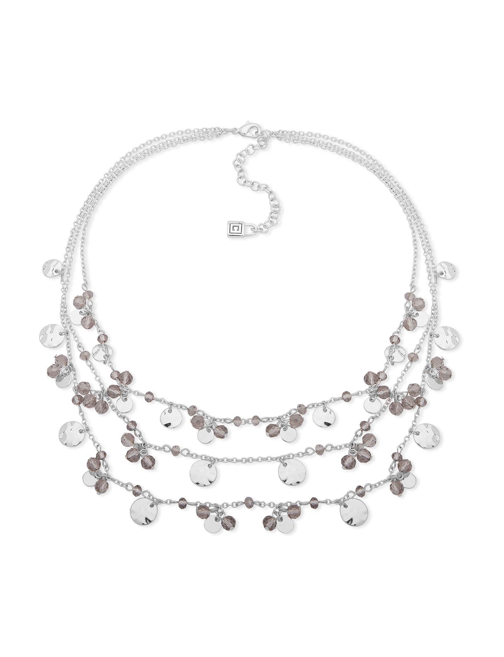 Chaps Silver Necklaces & Pendants Fashion Jewelry