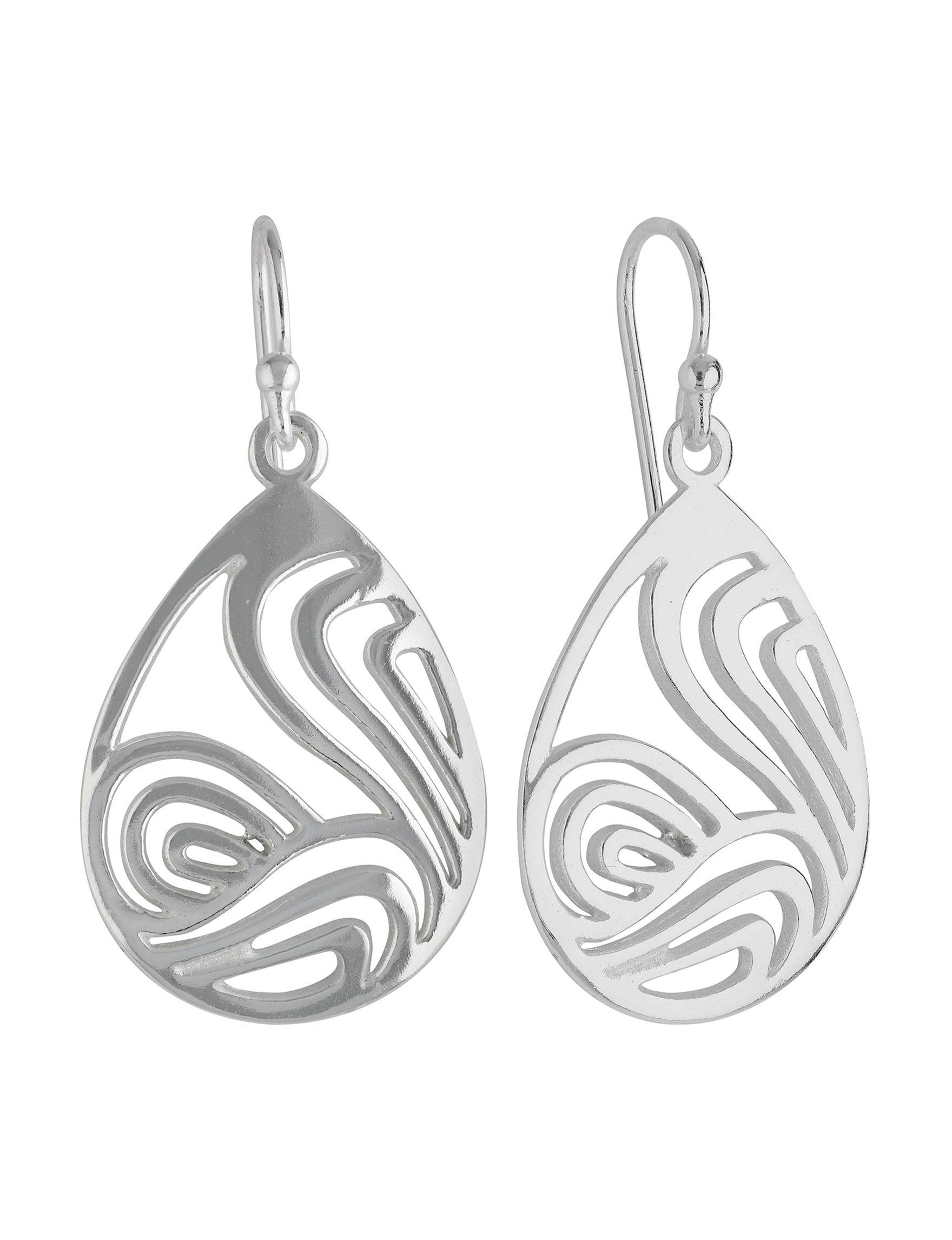 Sunstone Silver Drops Earrings Fine Jewelry