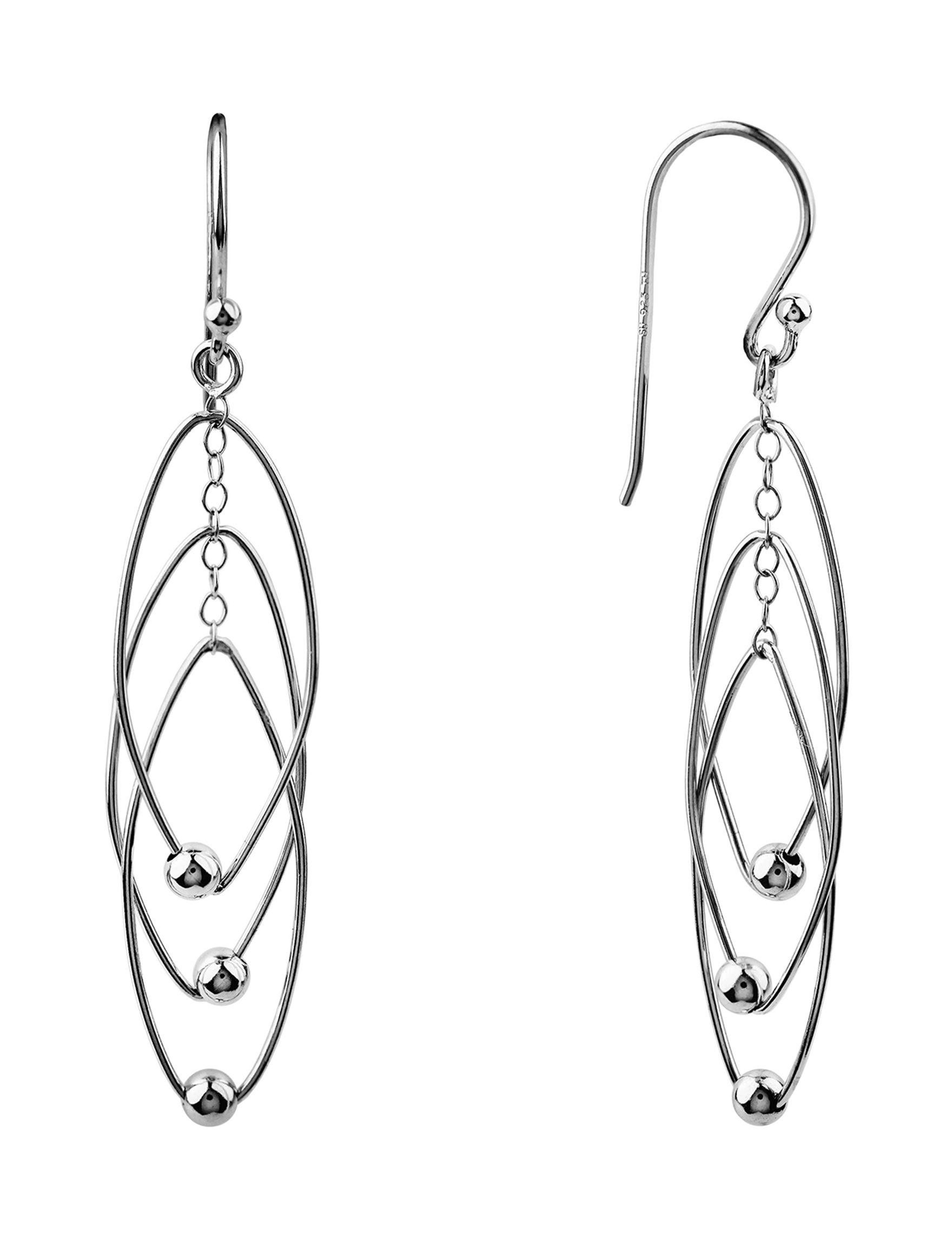 Sunstone Sterling Silver Drops Earrings Fine Jewelry