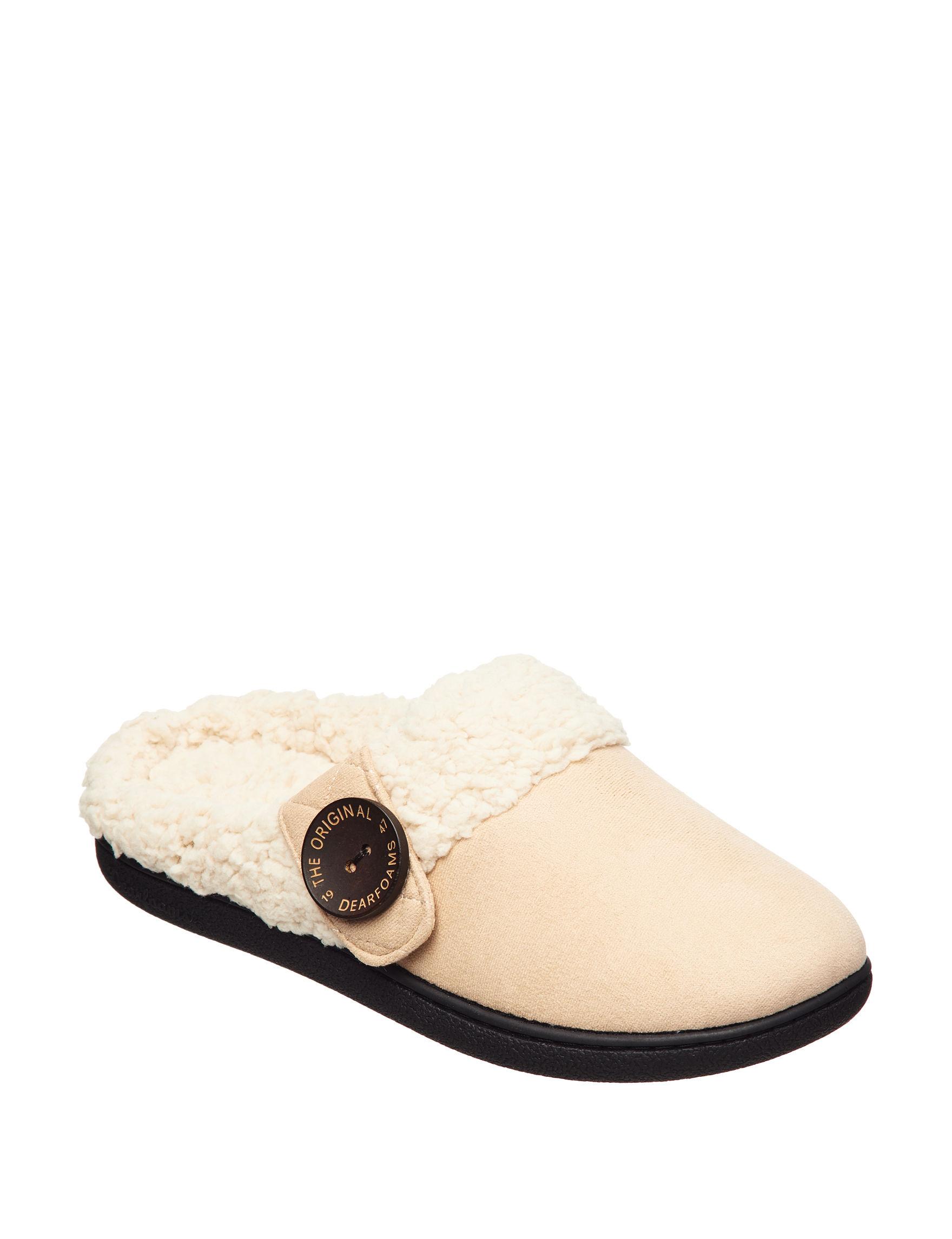 Dearfoams Medium Beige Slipper Shoes