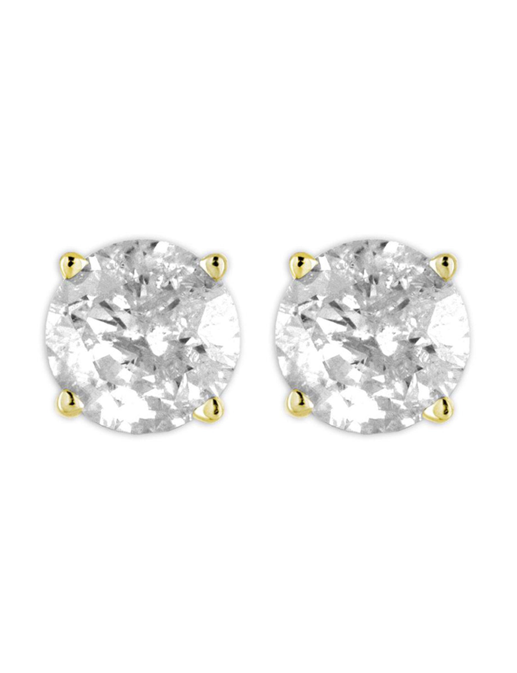 De Couer Gold Studs Earrings Fine Jewelry