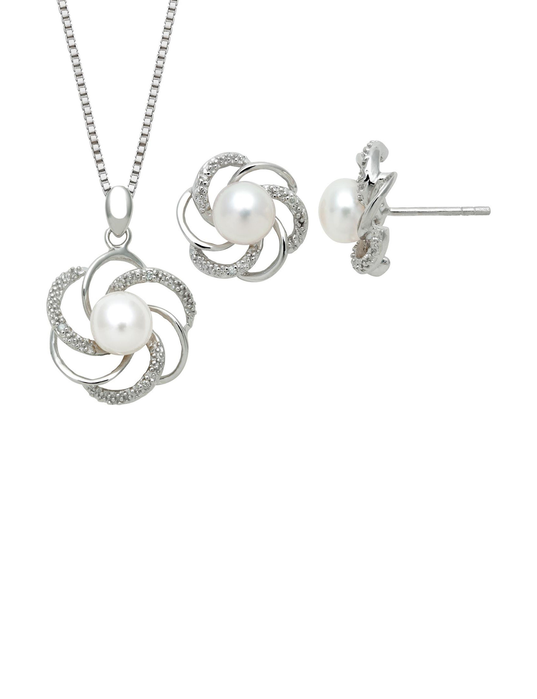 CPI White / Silver Jewelry Sets Fine Jewelry