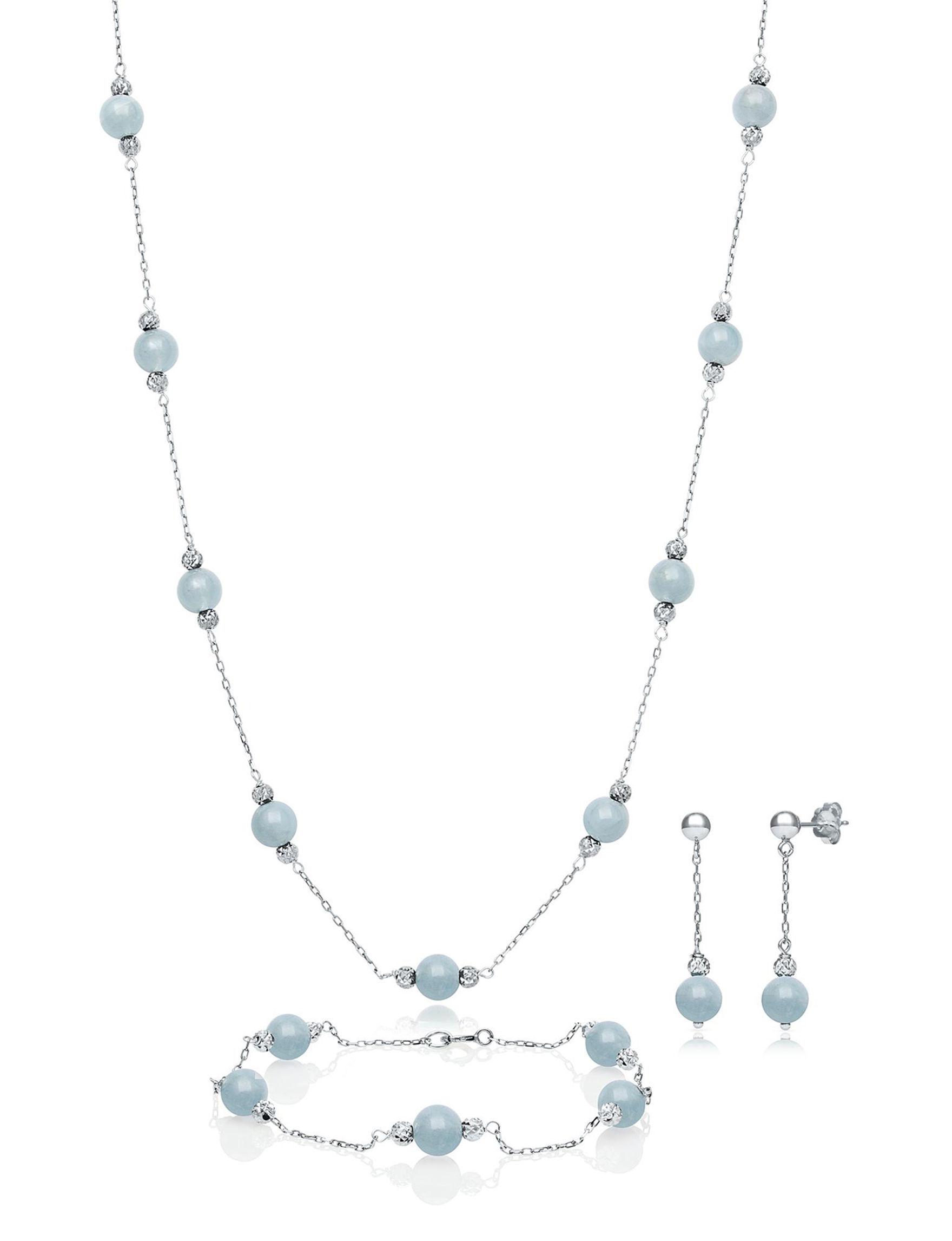 CPI Blue / Silver Jewelry Sets Fine Jewelry