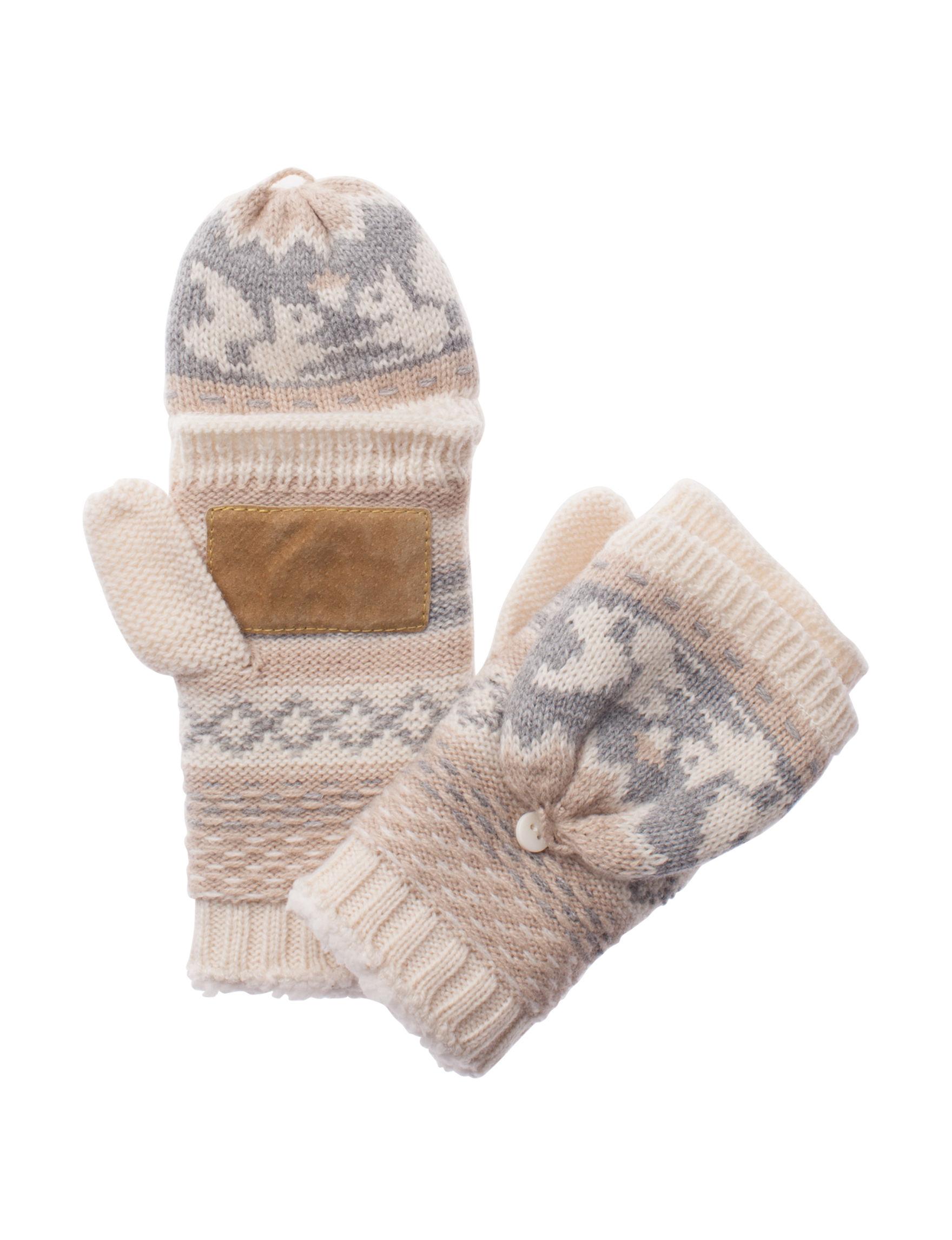 Isotoner Beige Gloves & Mittens