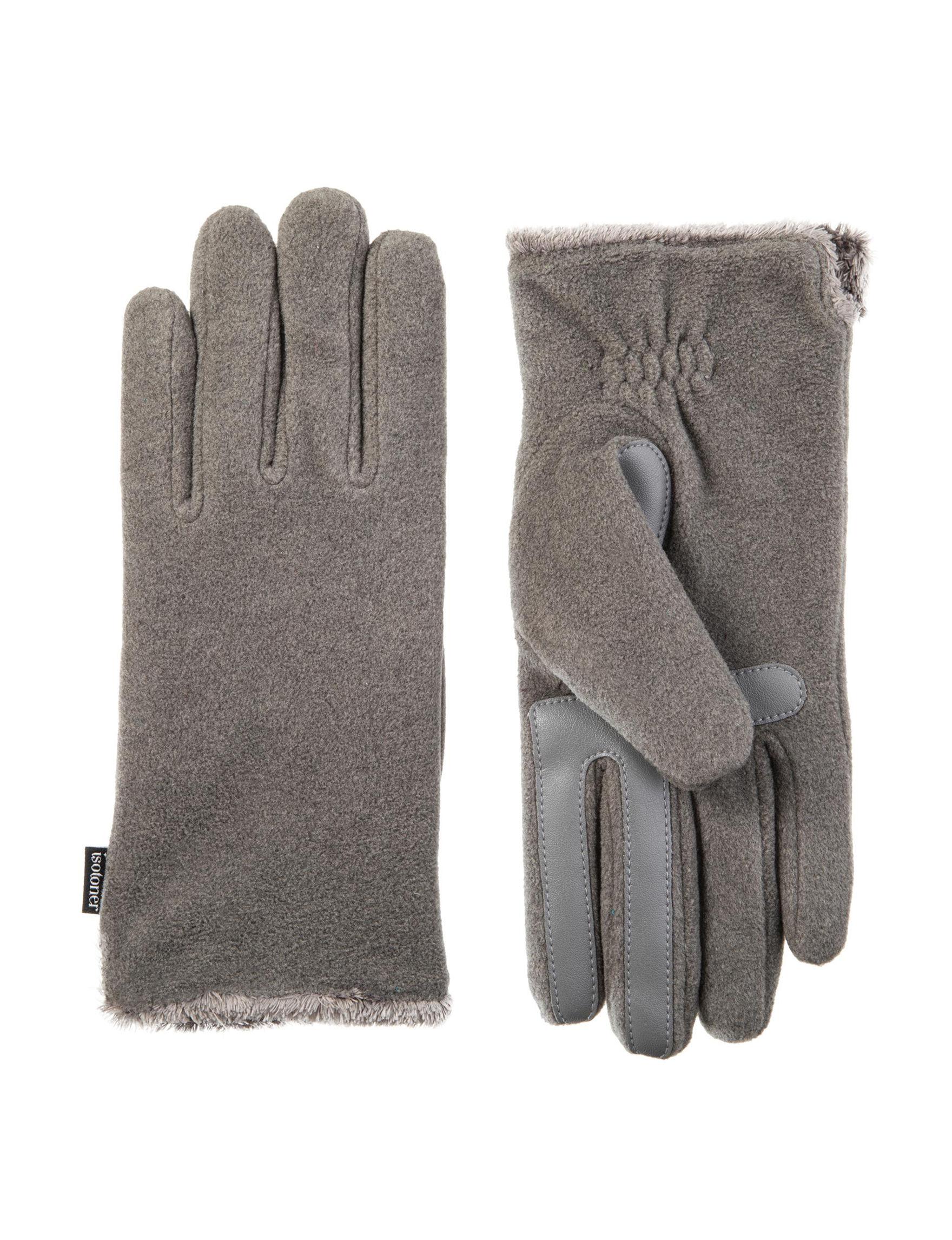 Isotoner Heather Grey Gloves & Mittens