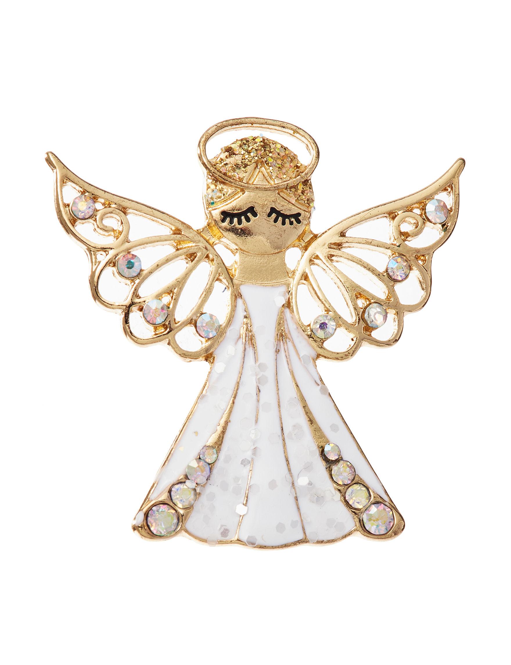 Hannah White Pins Fashion Jewelry