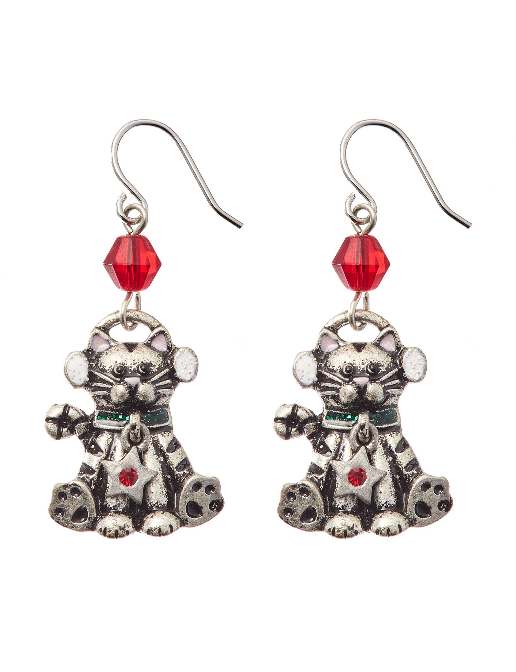 Hannah Silver Drops Earrings Fashion Jewelry