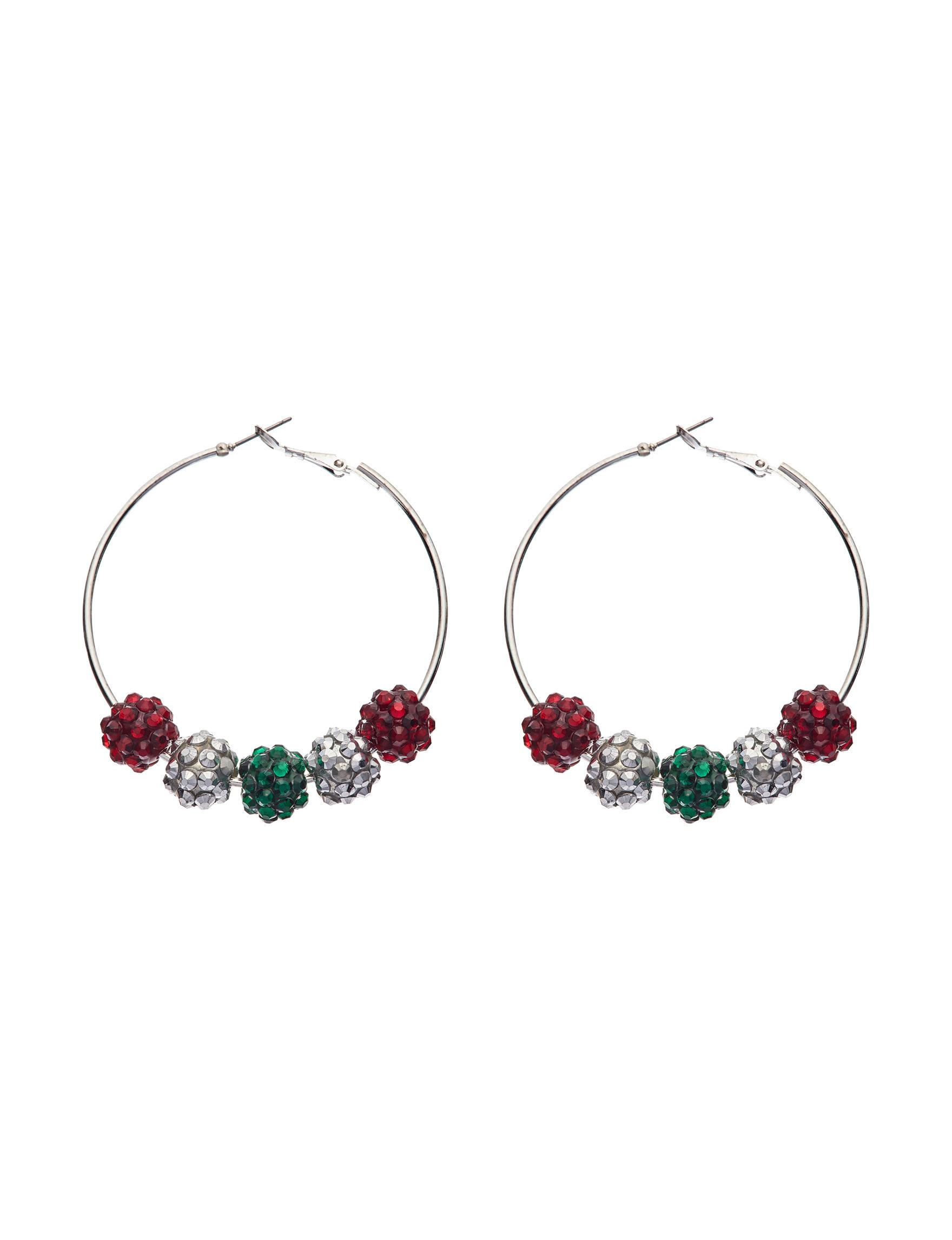 Hannah Multi Color Hoops Earrings Fashion Jewelry